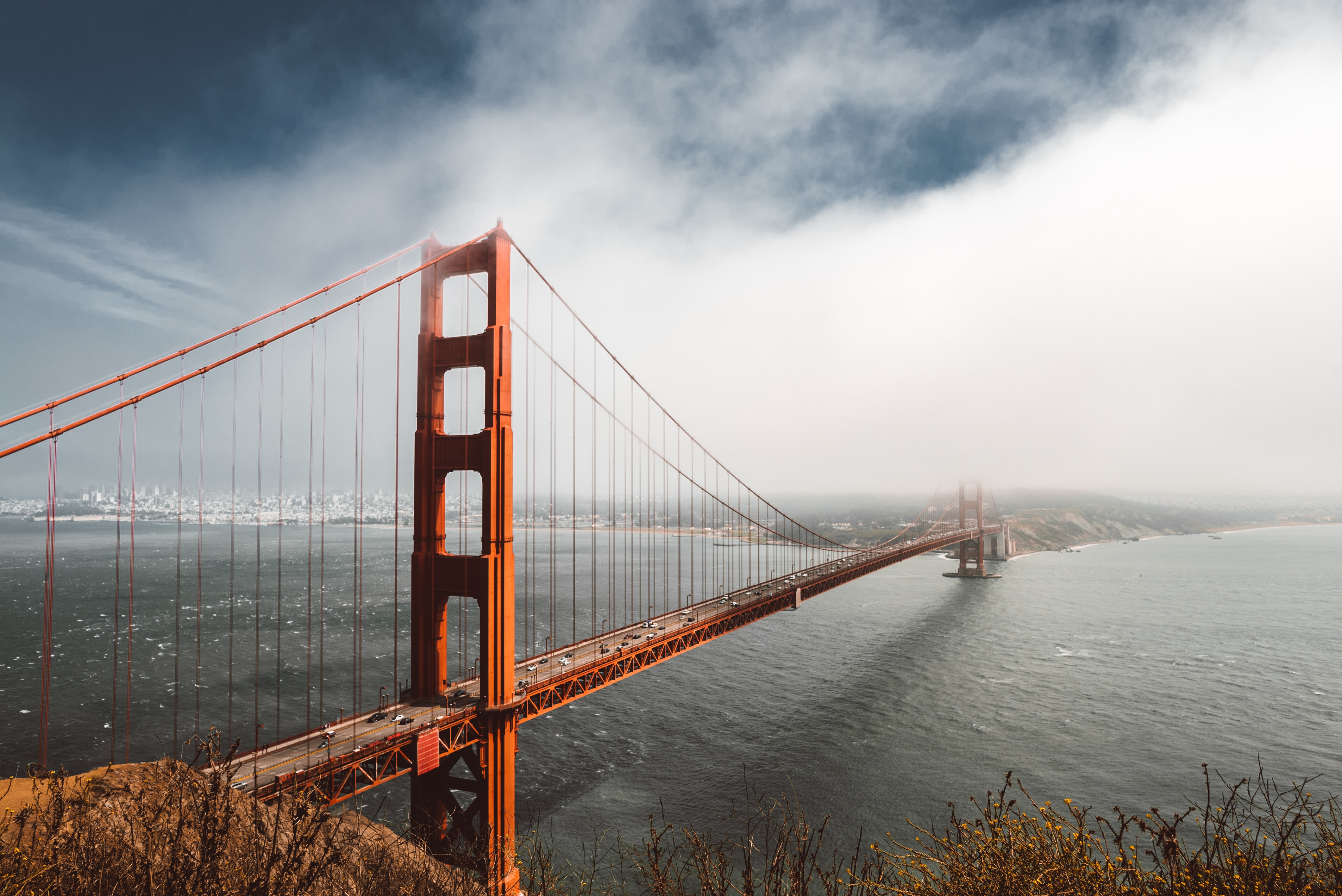 4k Golden Gate Bridge, HD World, 4k