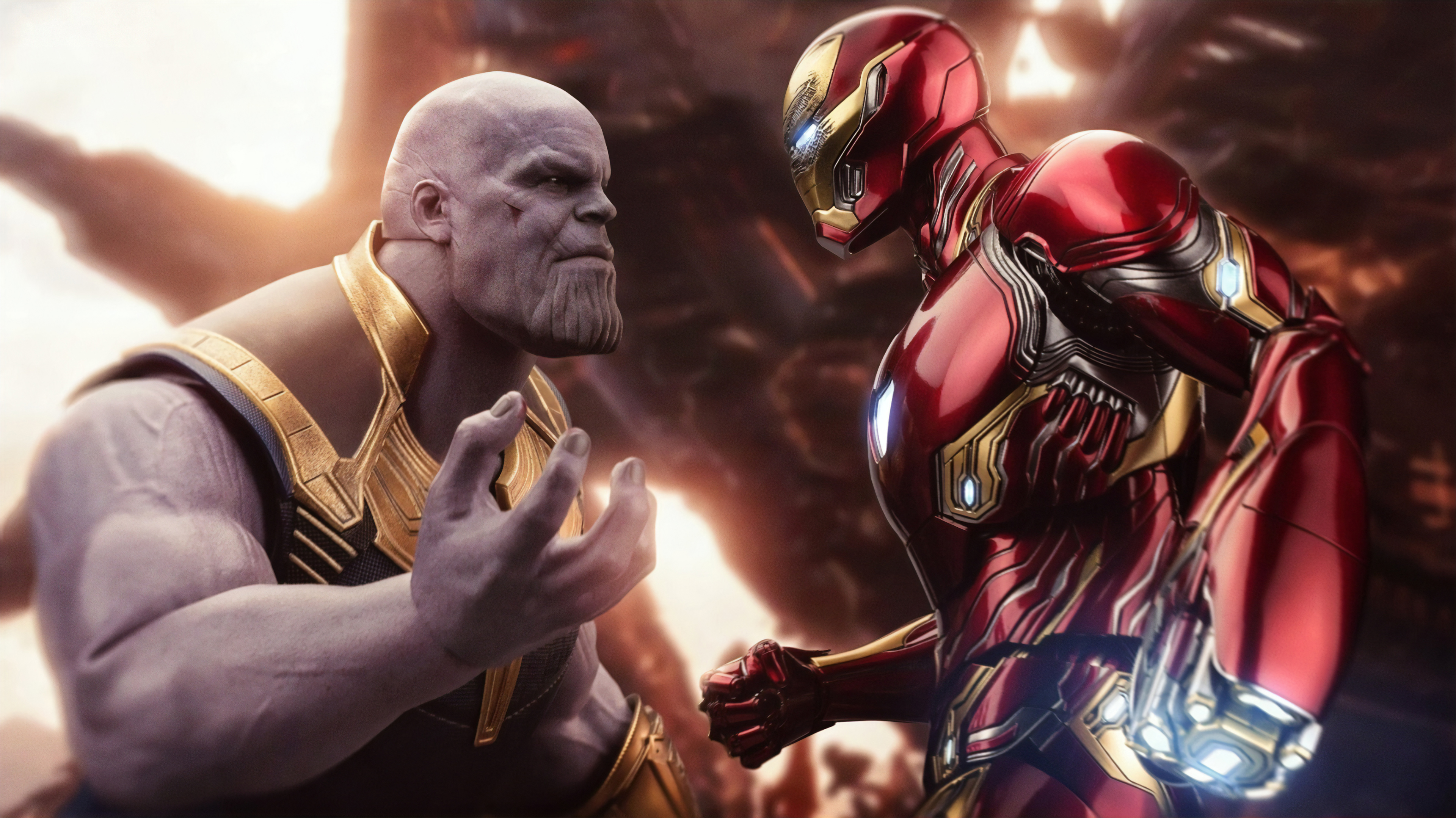 1366x768 4k Iron Man Thanos 1366x768 Resolution Hd 4k Wallpapers Images Backgrounds Photos And Pictures