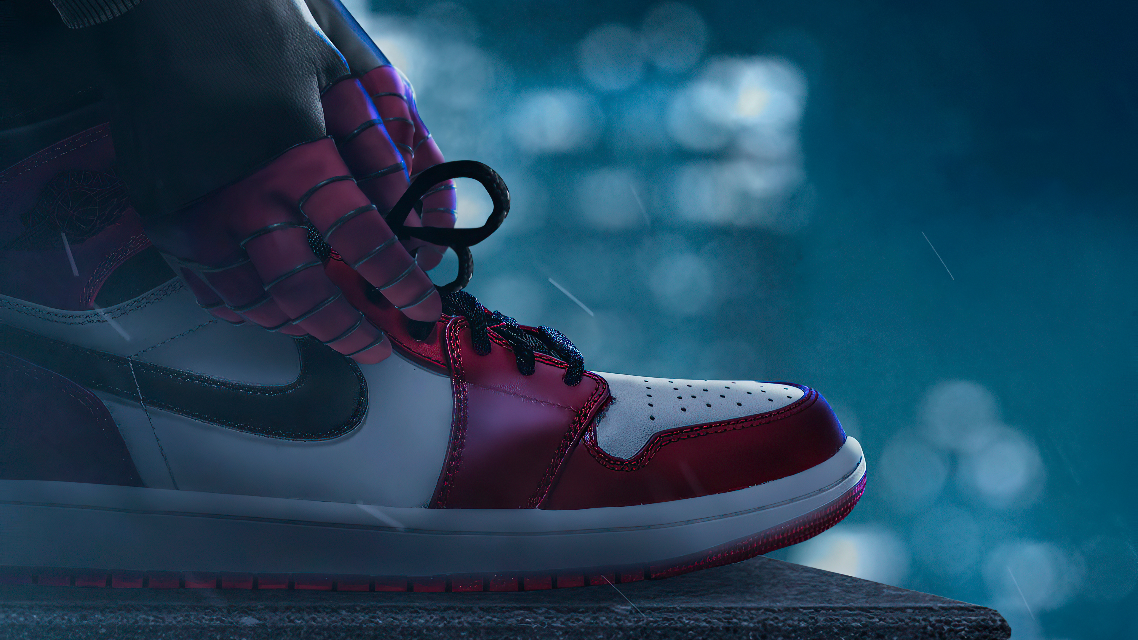 Air Jordan 1 Miles Morales Hd Superheroes 4k Wallpapers Images Backgrounds Photos And Pictures