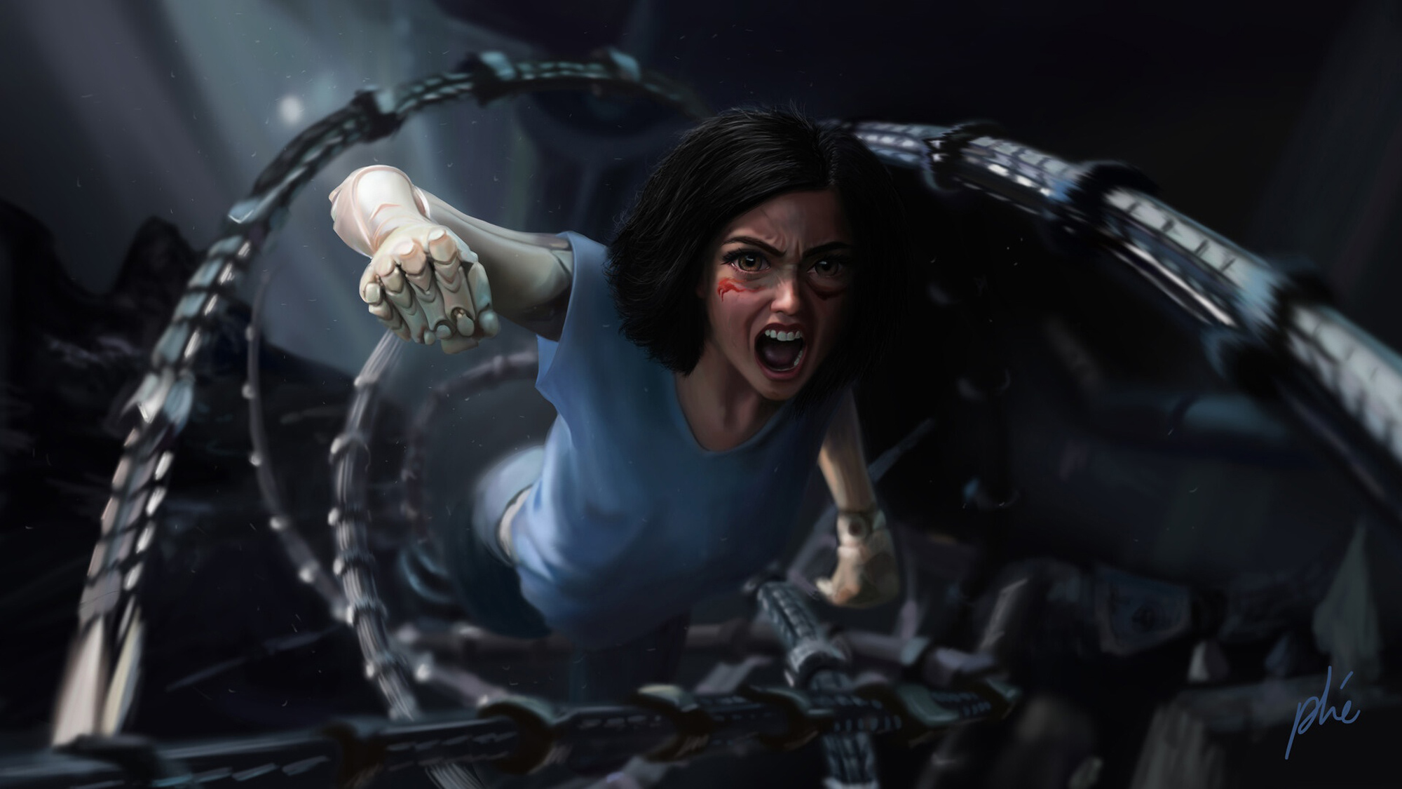 Alita Battle Angel Fan Art Hd Movies 4k Wallpapers Images