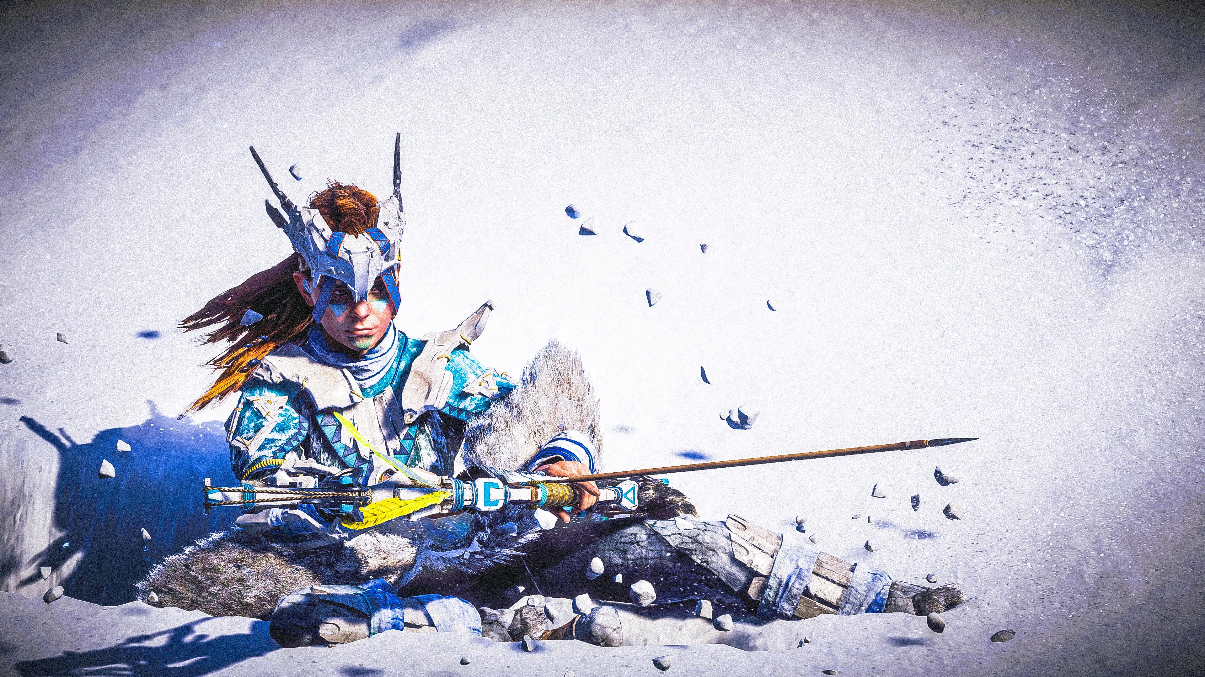 Aloy Snow Archer Horizon Zero Dawn 4k Hd Games 4k Wallpapers