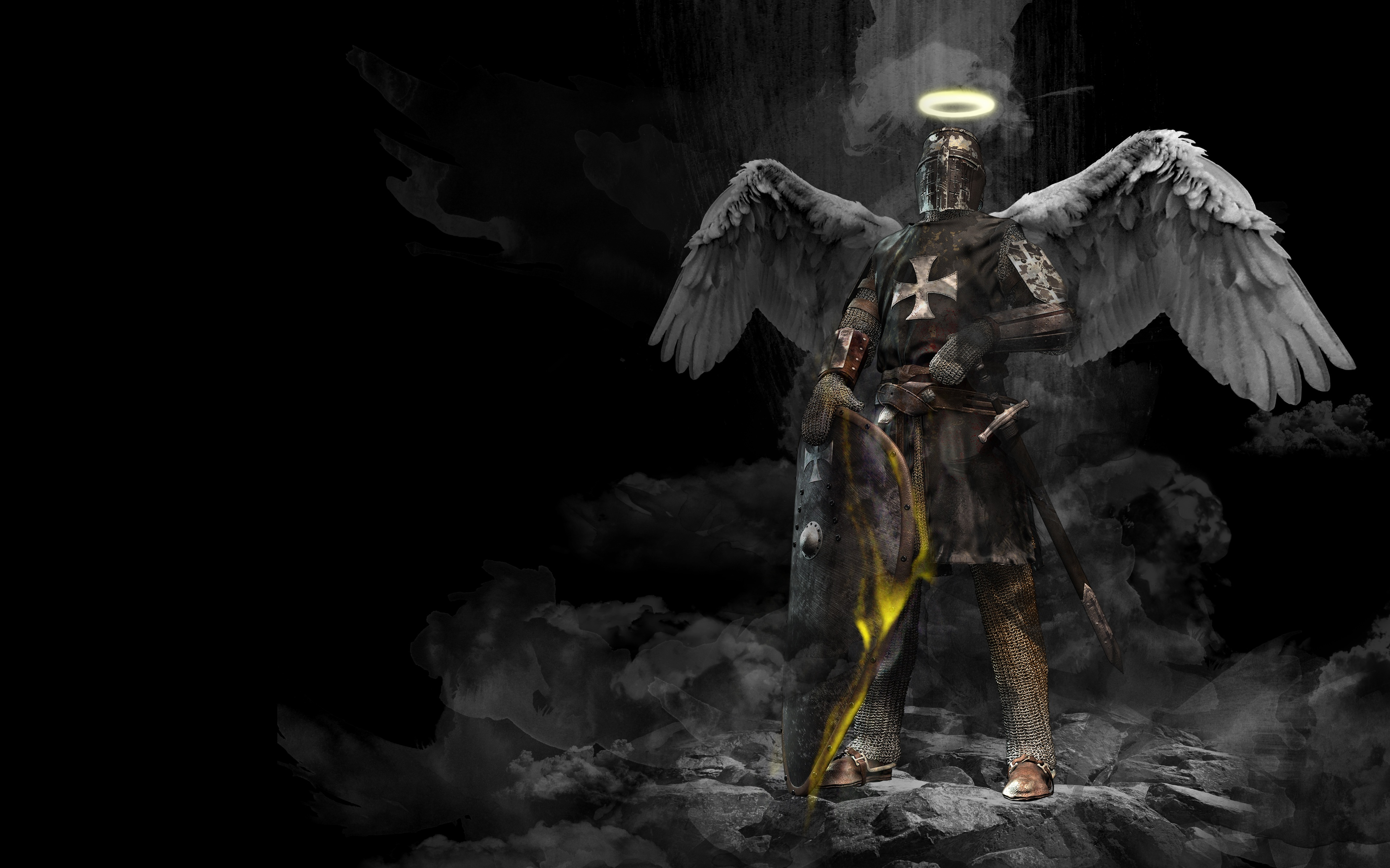 Angel Fantasy Knight Hd Artist 4k Wallpapers Images Backgrounds Photos And Pictures