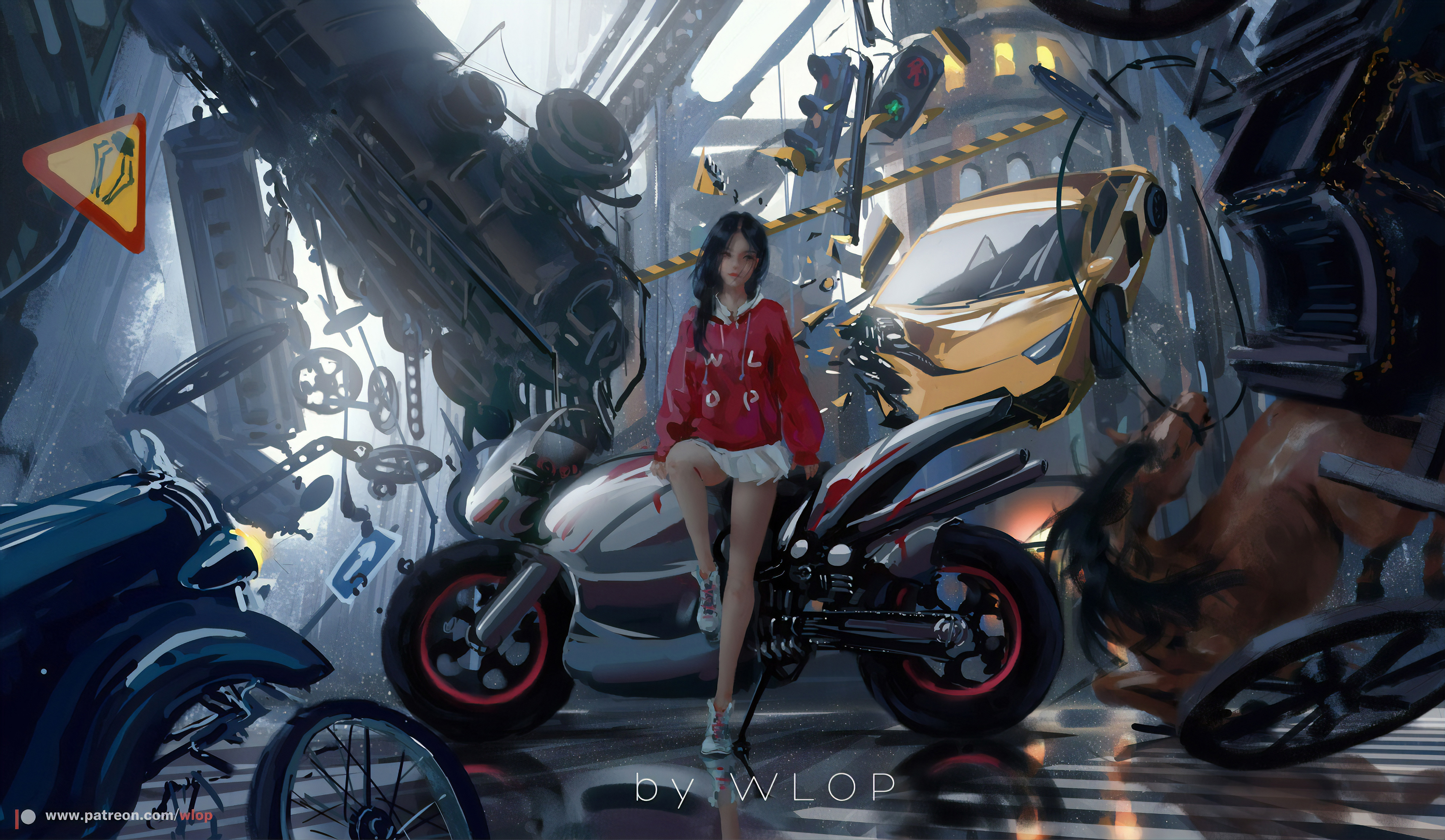 Anime Biker Girl 4k Hd Anime 4k Wallpapers Images Backgrounds Photos And Pictures