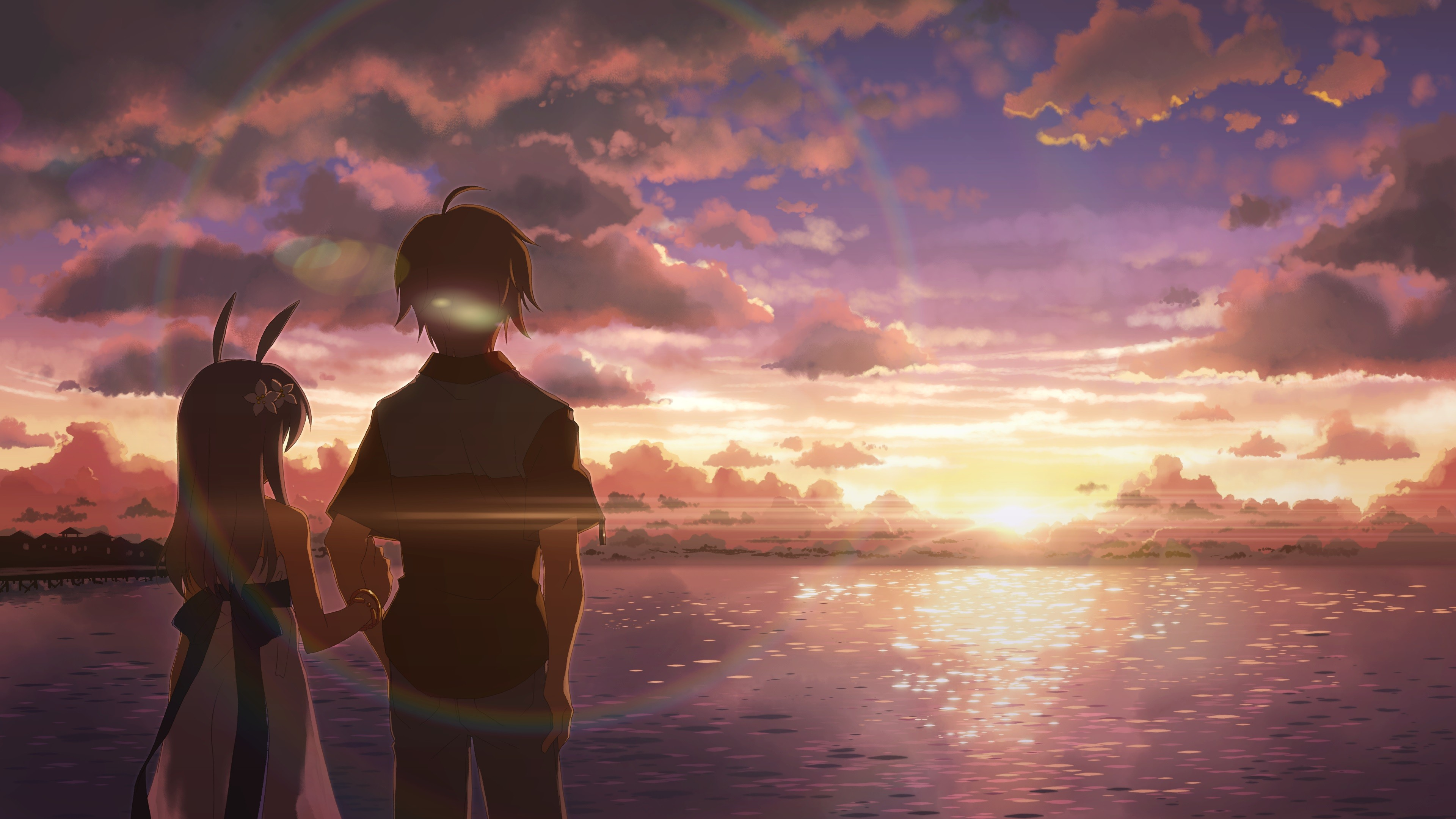 Anime Boy And Girl Alone Hd Anime 4k Wallpapers Images Backgrounds Photos And Pictures