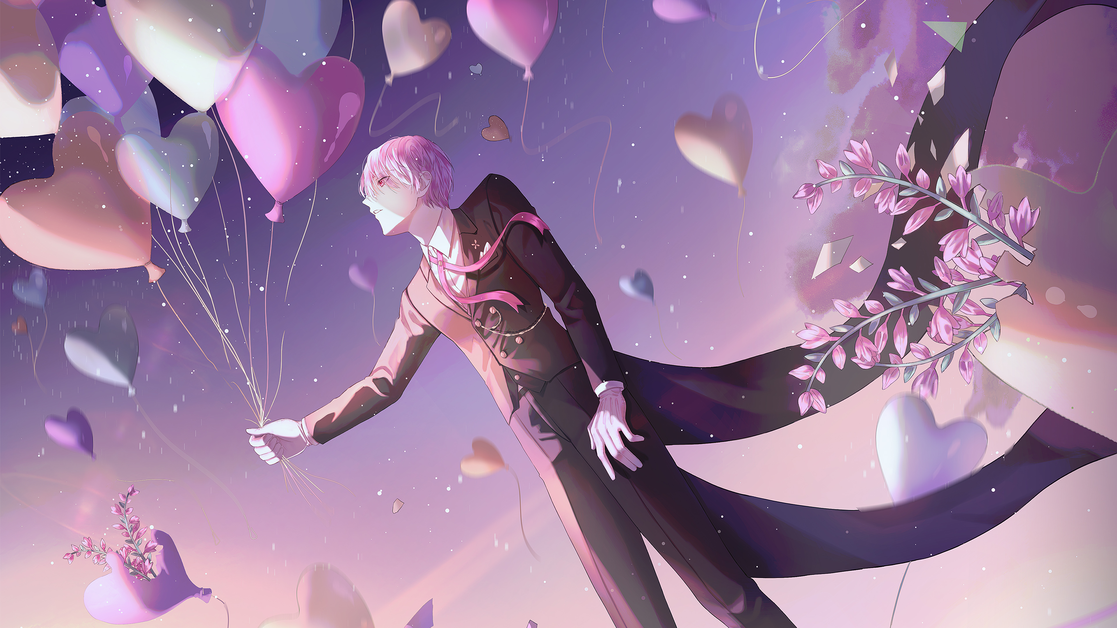 Anime Boy Balloons 4k Hd Anime 4k Wallpapers Images Backgrounds Photos And Pictures