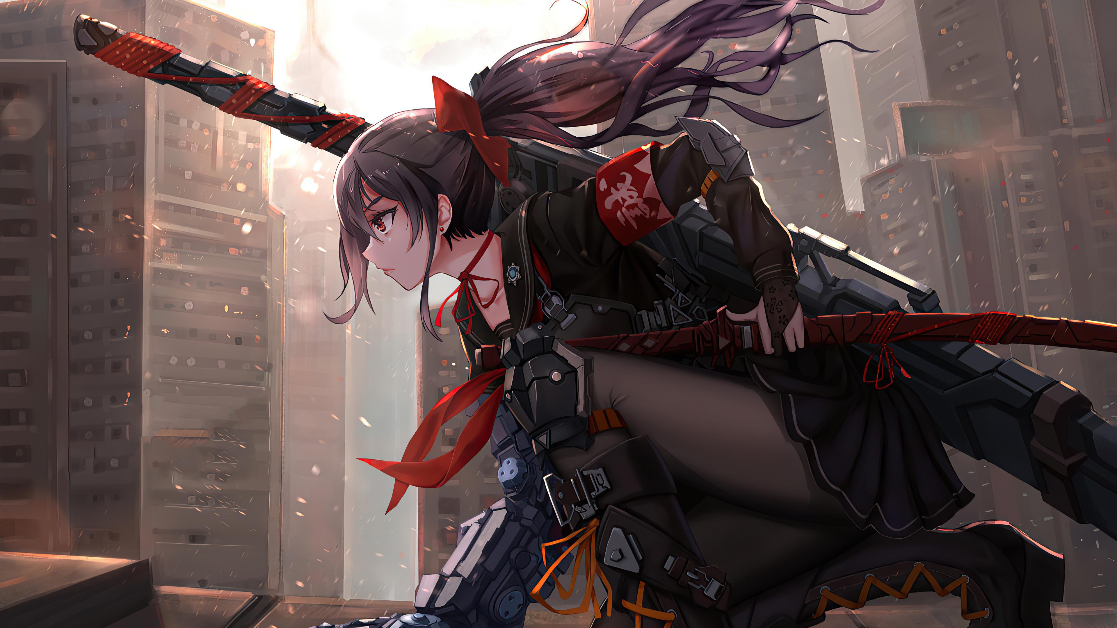 1360x768 Anime Cyber Arm Sword Girl 4k Laptop HD HD 4k ...