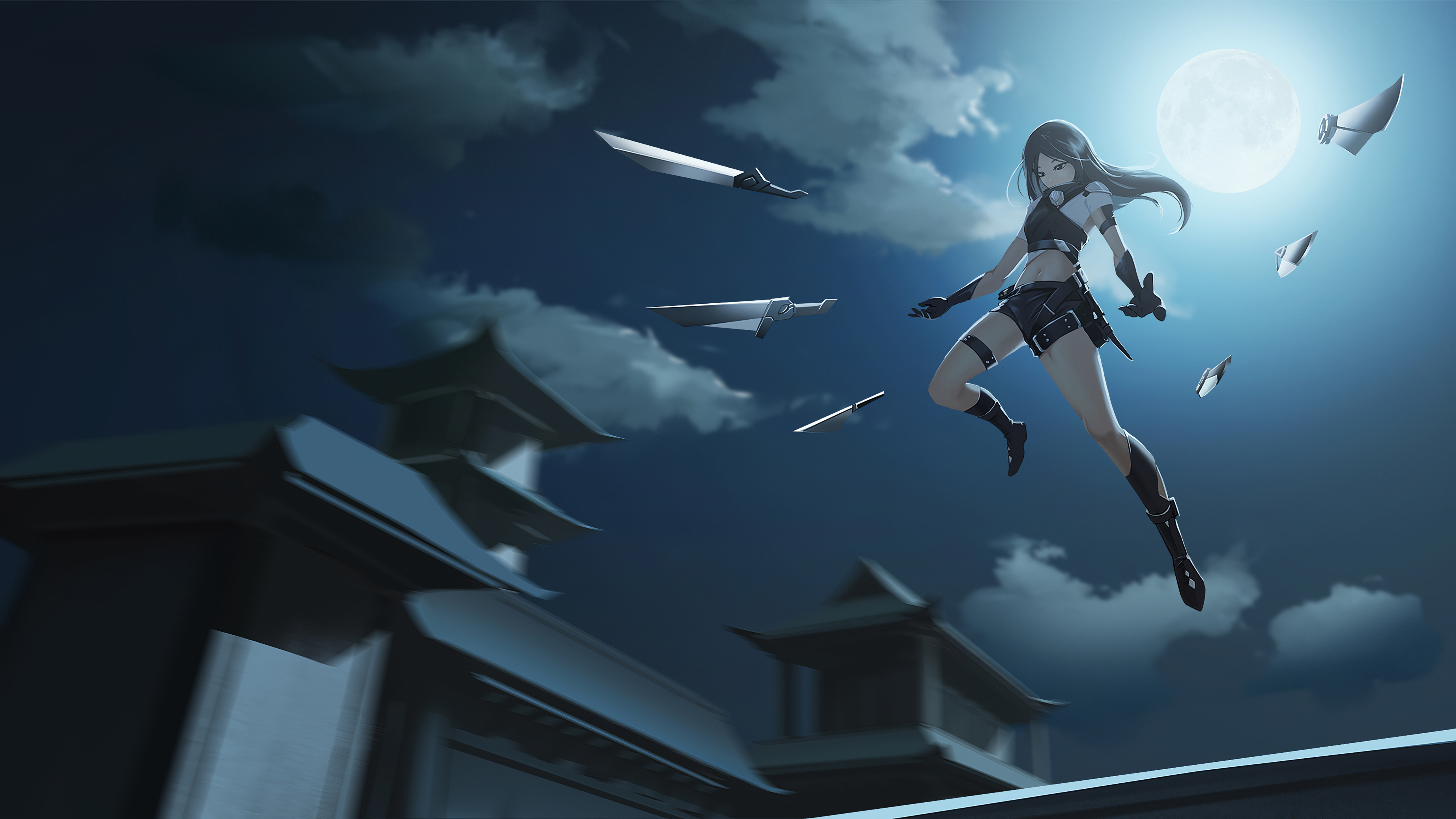 anime Girls, Sword, Weapon, Realistic Wallpapers HD