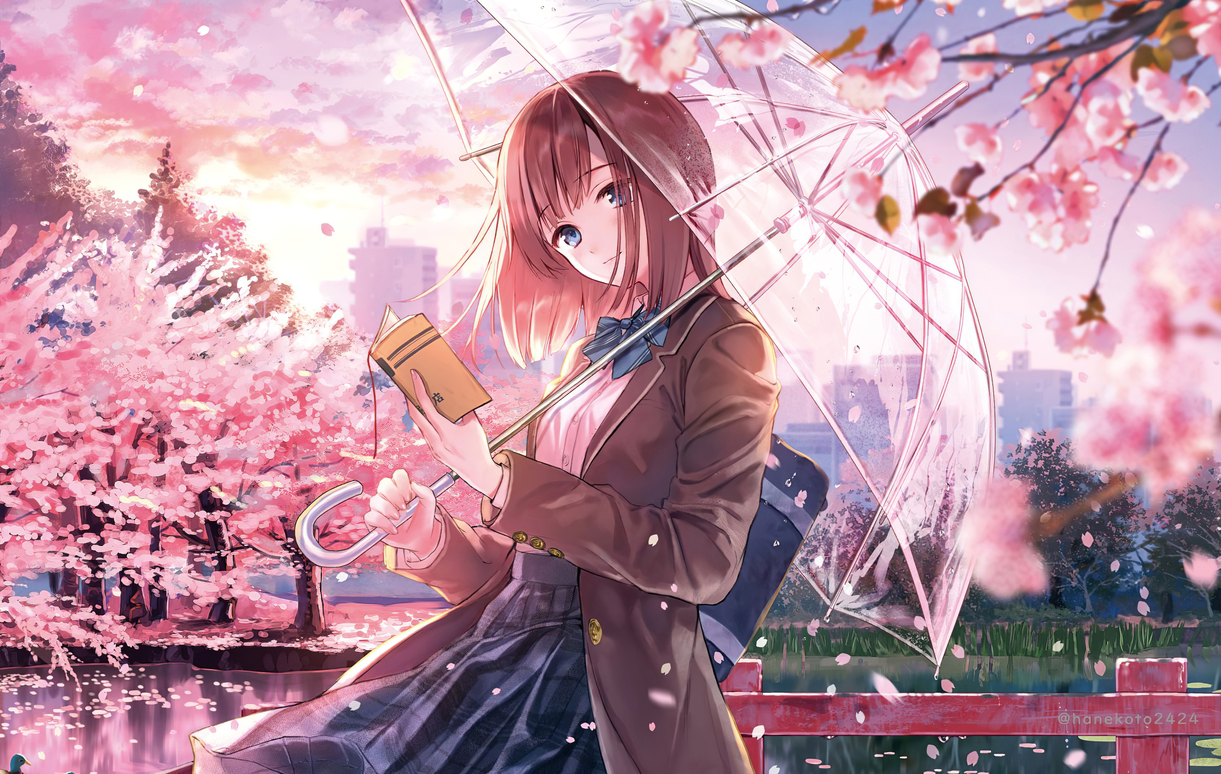 1125x2436 Anime Girl Cherry Blossom Season 5k Iphone Xs Iphone 10 Iphone X Hd 4k Wallpapers Images Backgrounds Photos And Pictures