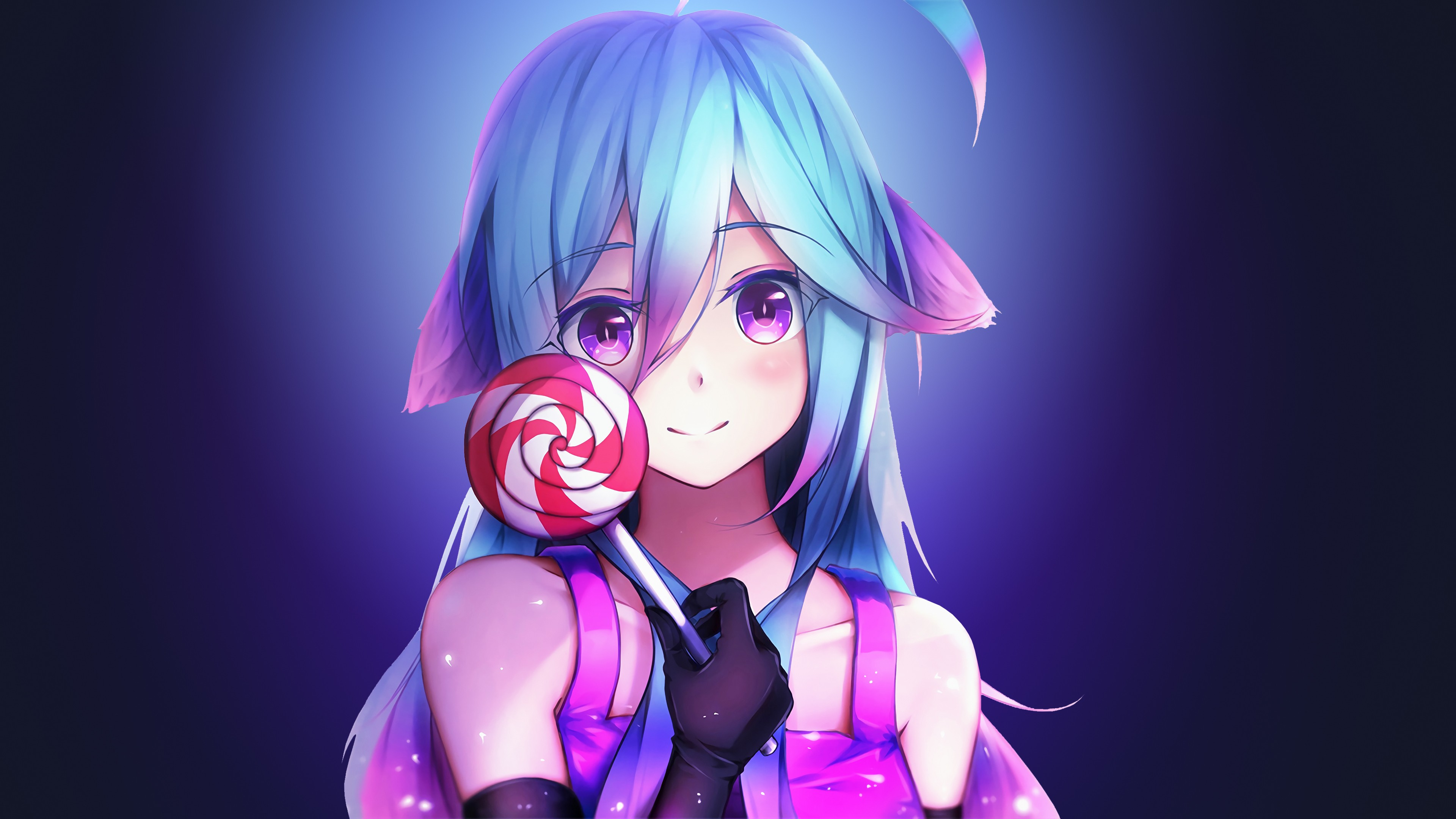 Anime Girl Cute Rainbows And Lolipop Hd Anime 4k Wallpapers Images Backgrounds Photos And Pictures
