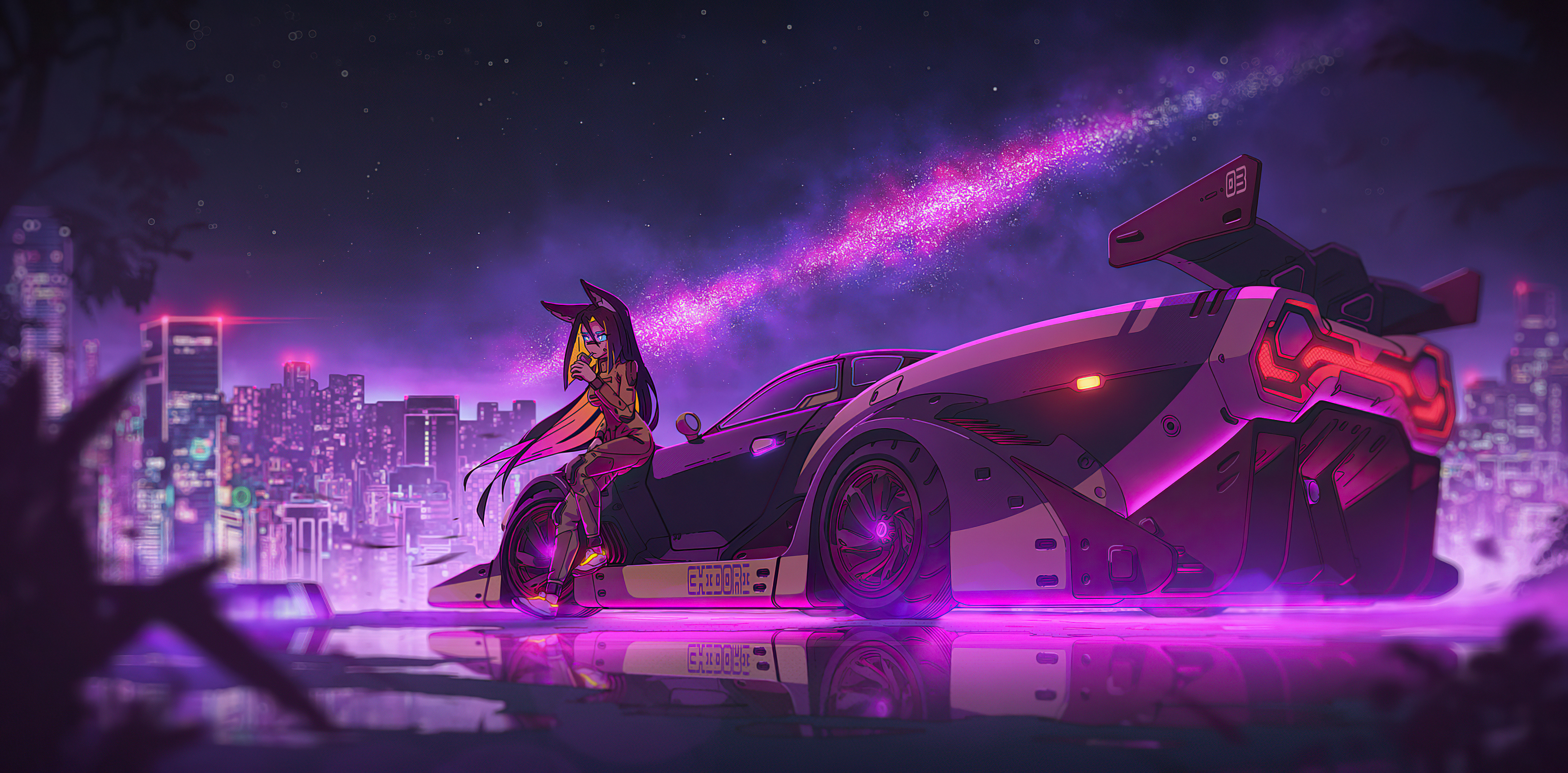 1440x900 Anime Girl Cyberpunk Ride 4k 1440x900 Resolution ...