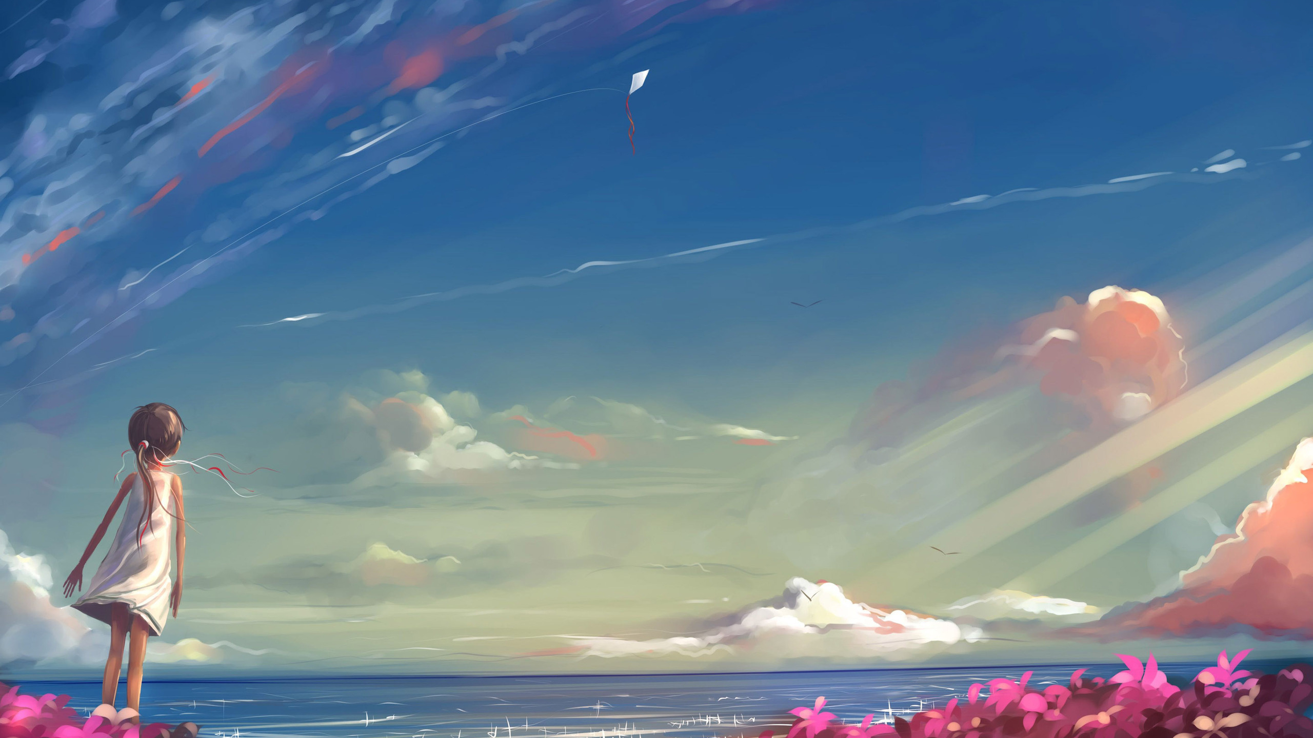 Anime Girl Looking At Sky Hd Anime 4k Wallpapers Images Backgrounds Photos And Pictures