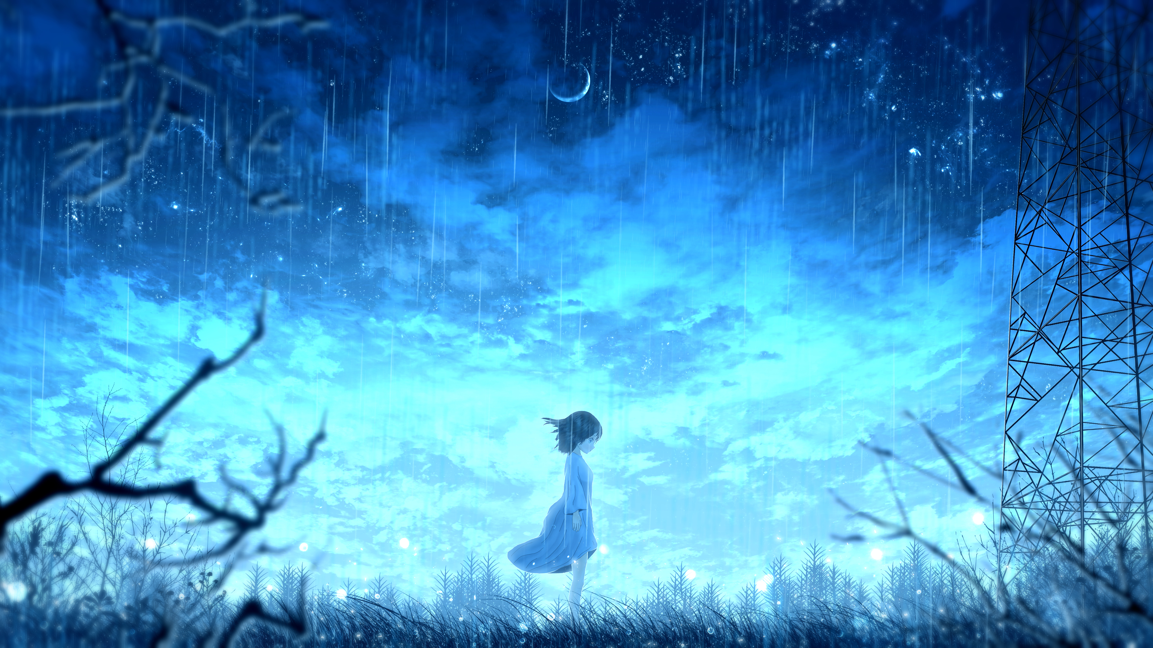 Anime Girl Night Rain 4k Hd Anime 4k Wallpapers Images Backgrounds Photos And Pictures
