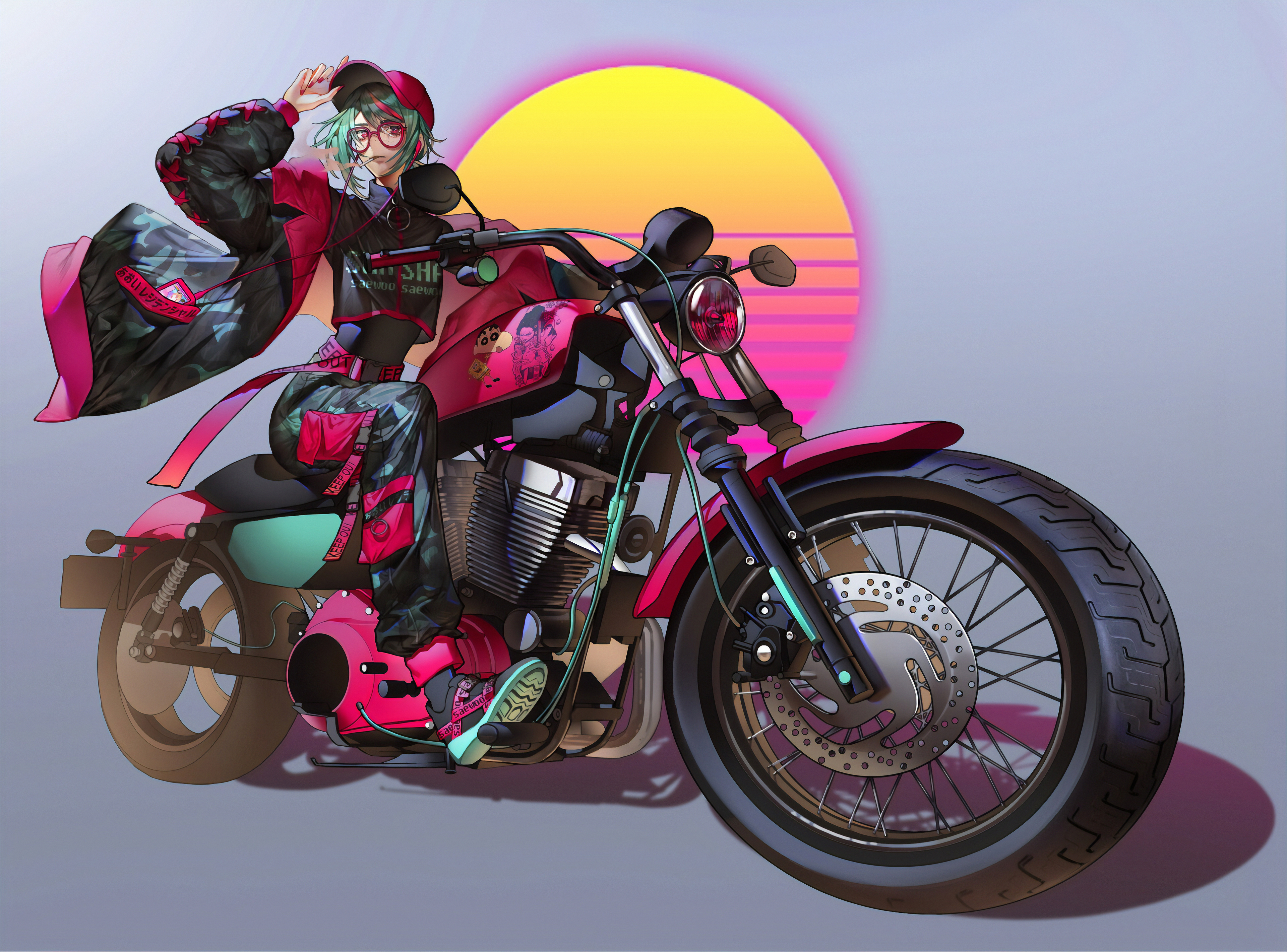 1280x1024 Anime Girl On Bike Art 4k 1280x1024 Resolution Hd 4k Wallpapers Images Backgrounds Photos And Pictures