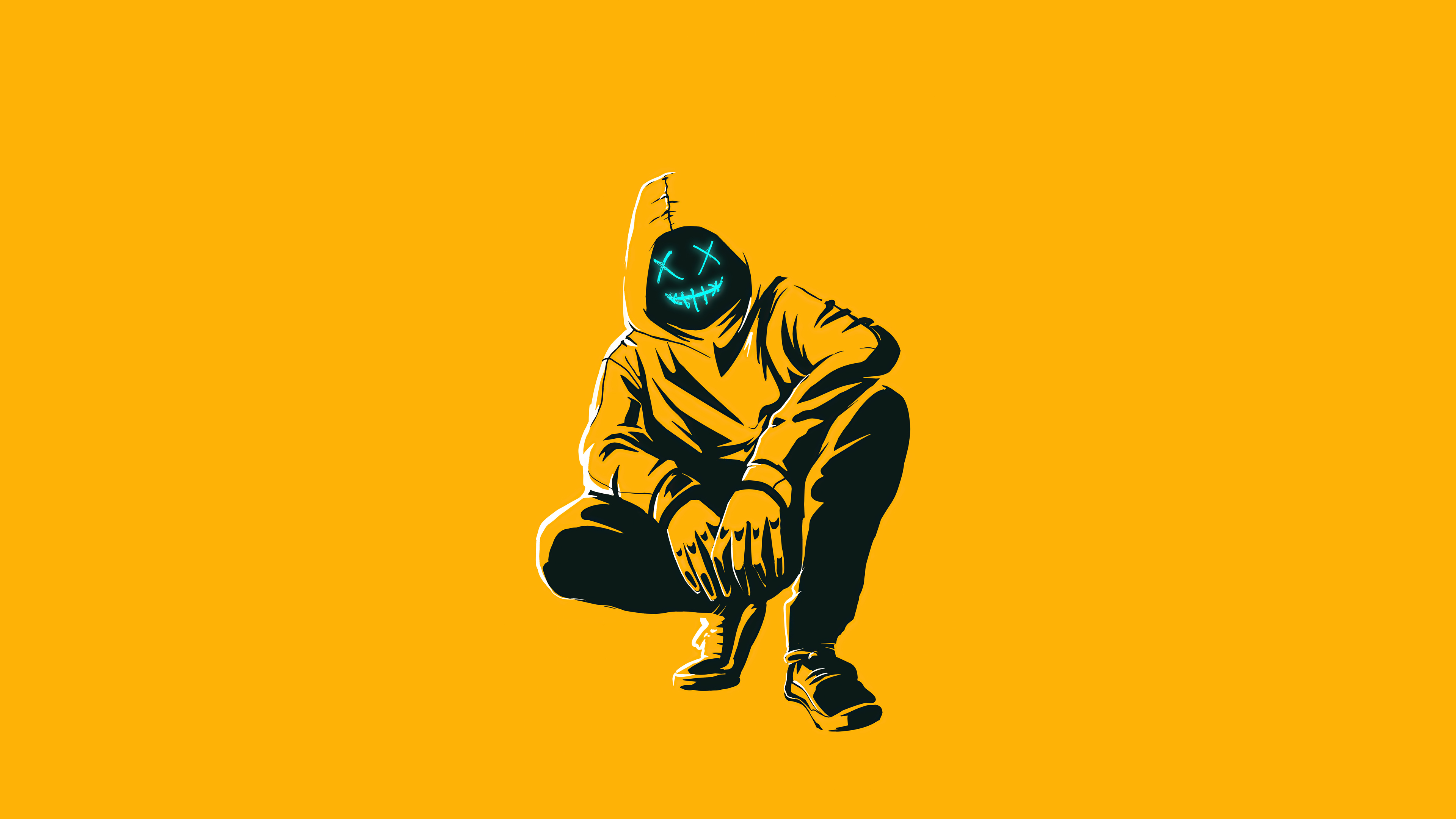anonmyus boy yellow minimal 4k pw