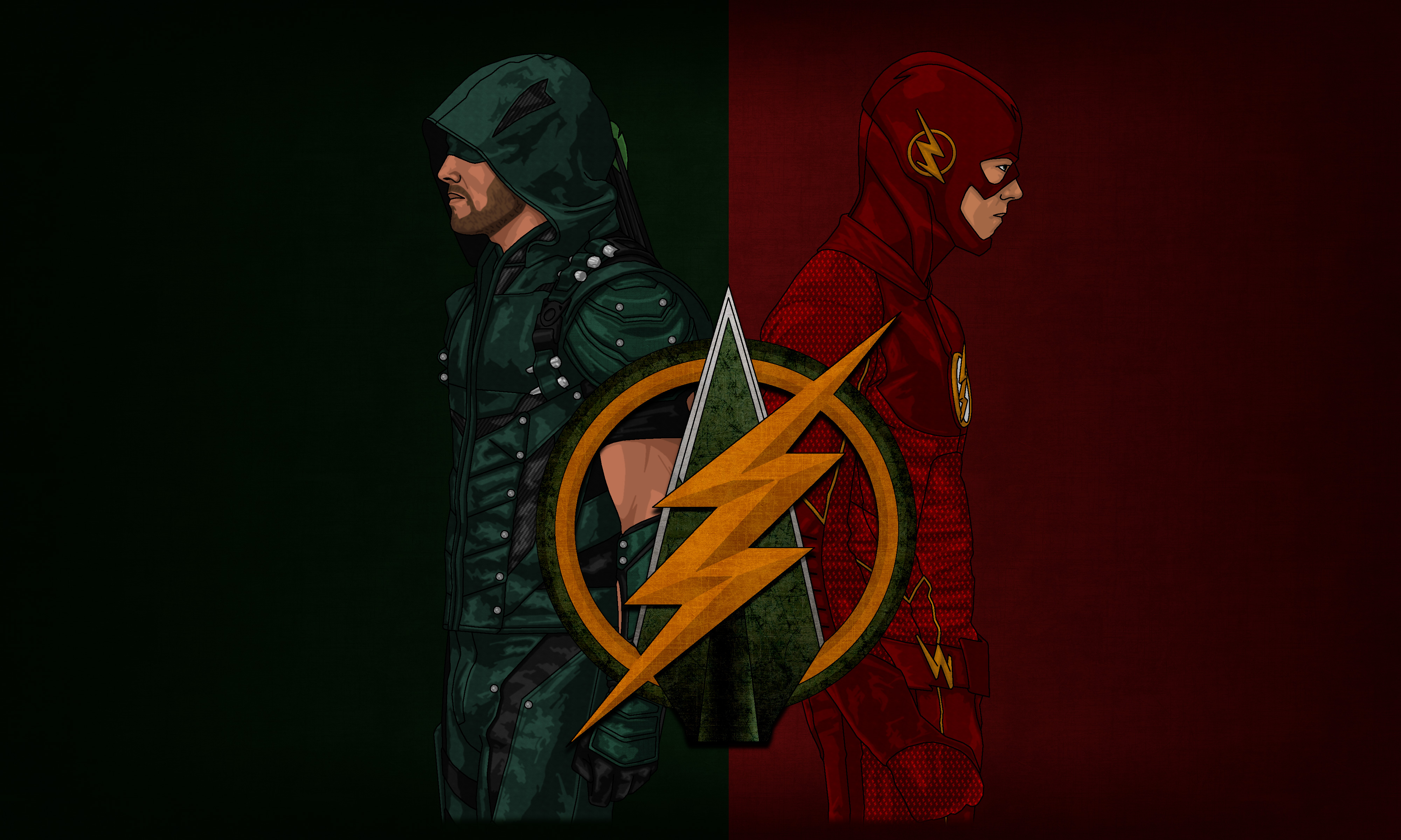 Arrow Flash Artwork 4k Hd Tv Shows 4k Wallpapers Images