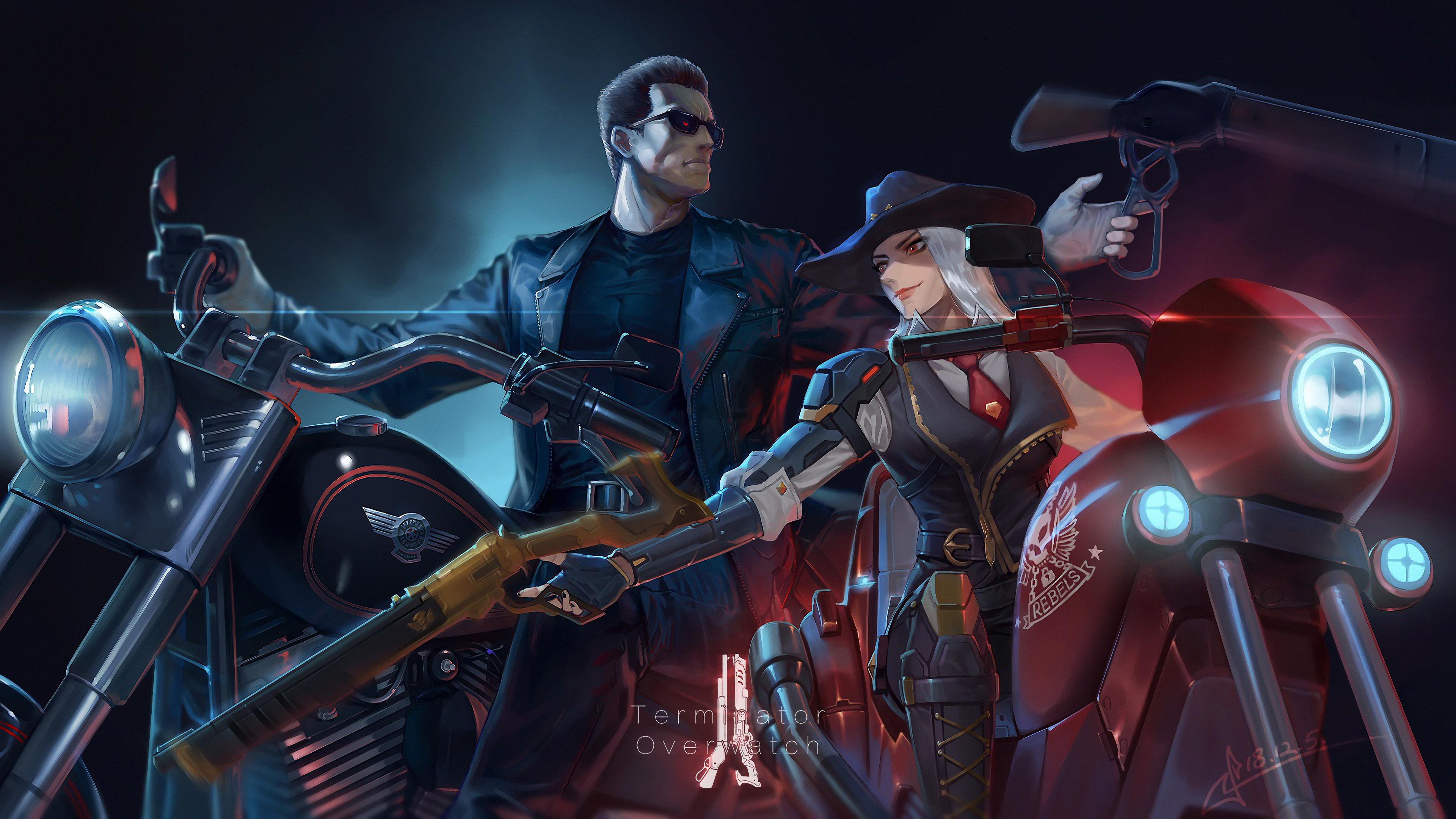 Ashe Terminator Overwatch 4K, HD Games