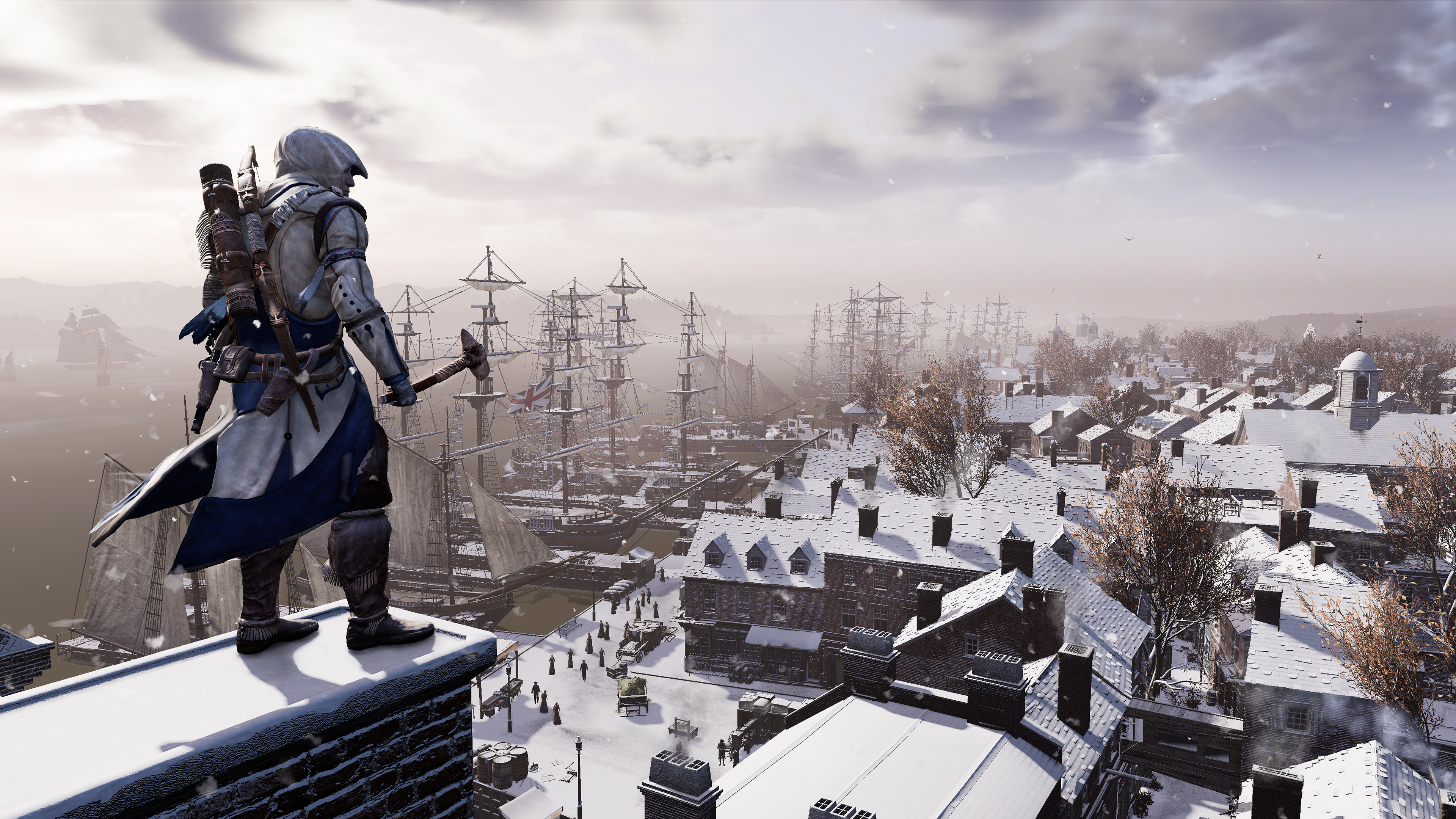 1360x768 Assassins Creed 3 Remastered 4k Laptop Hd Hd 4k Wallpapers Images Backgrounds Photos And Pictures