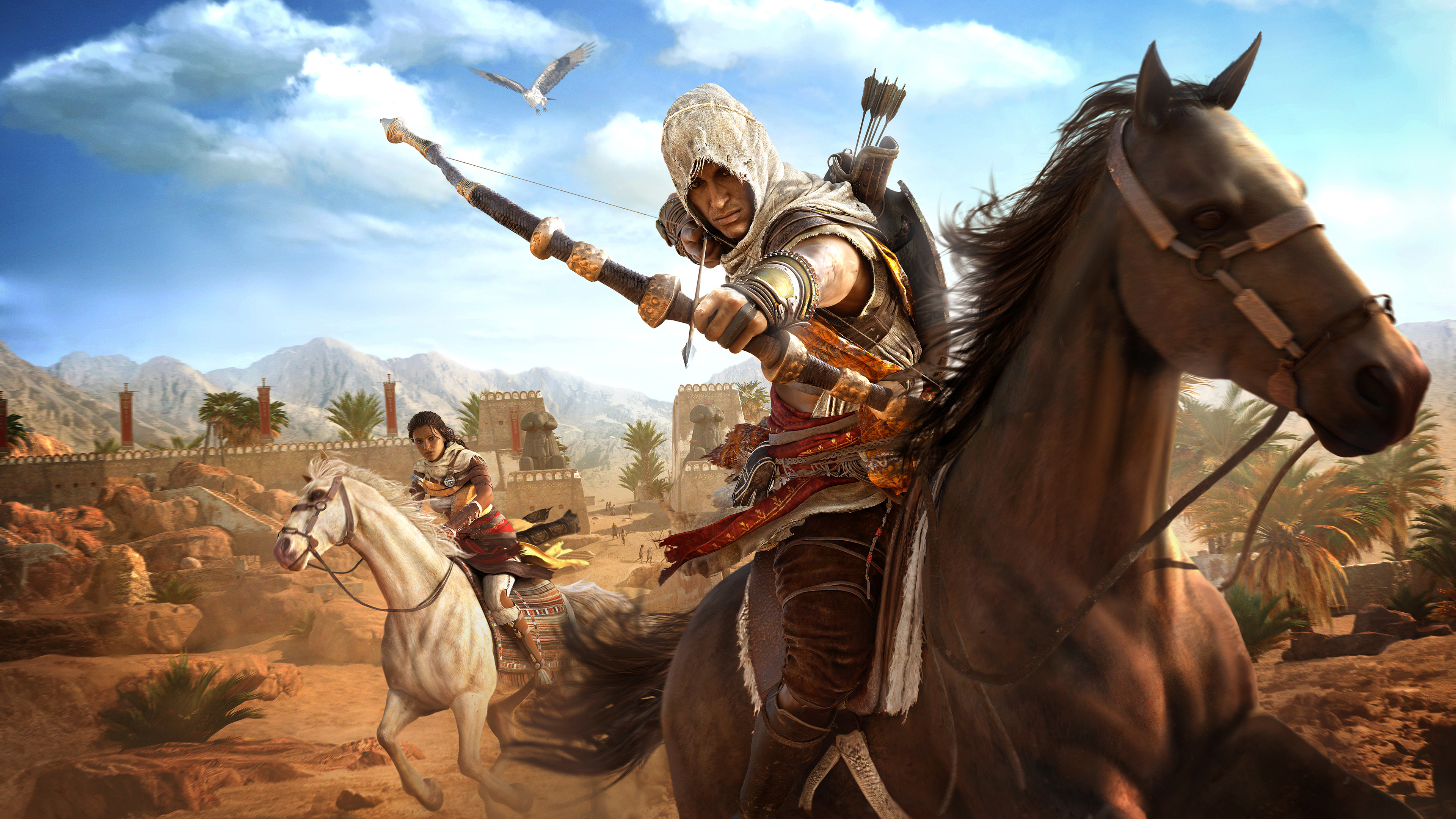 Assassins Creed Origins Bayek And Aya 4k Hd Games 4k Wallpapers