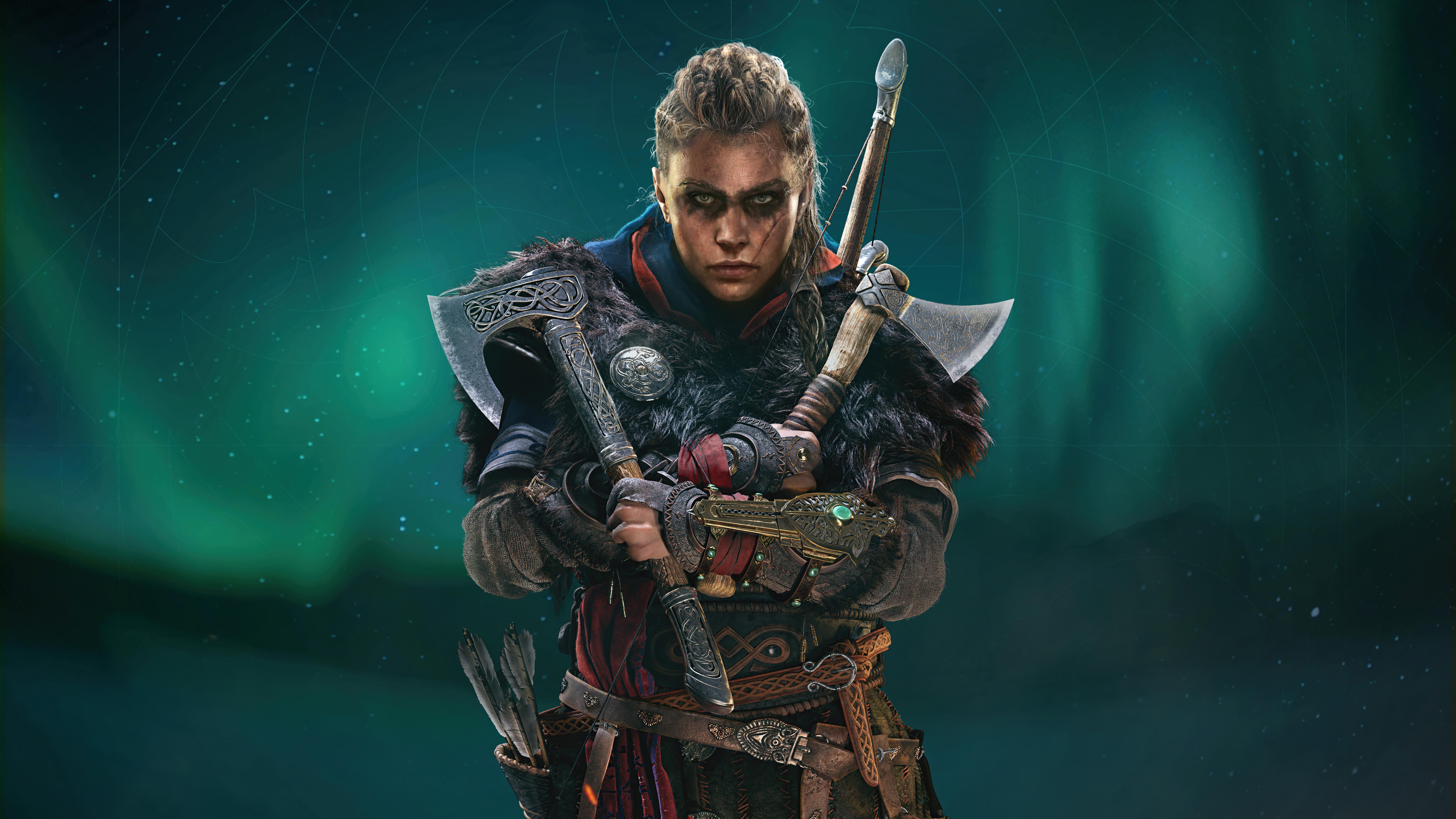 Assassins Creed Valhalla Female Eivor Axe 8k Hd Games 4k