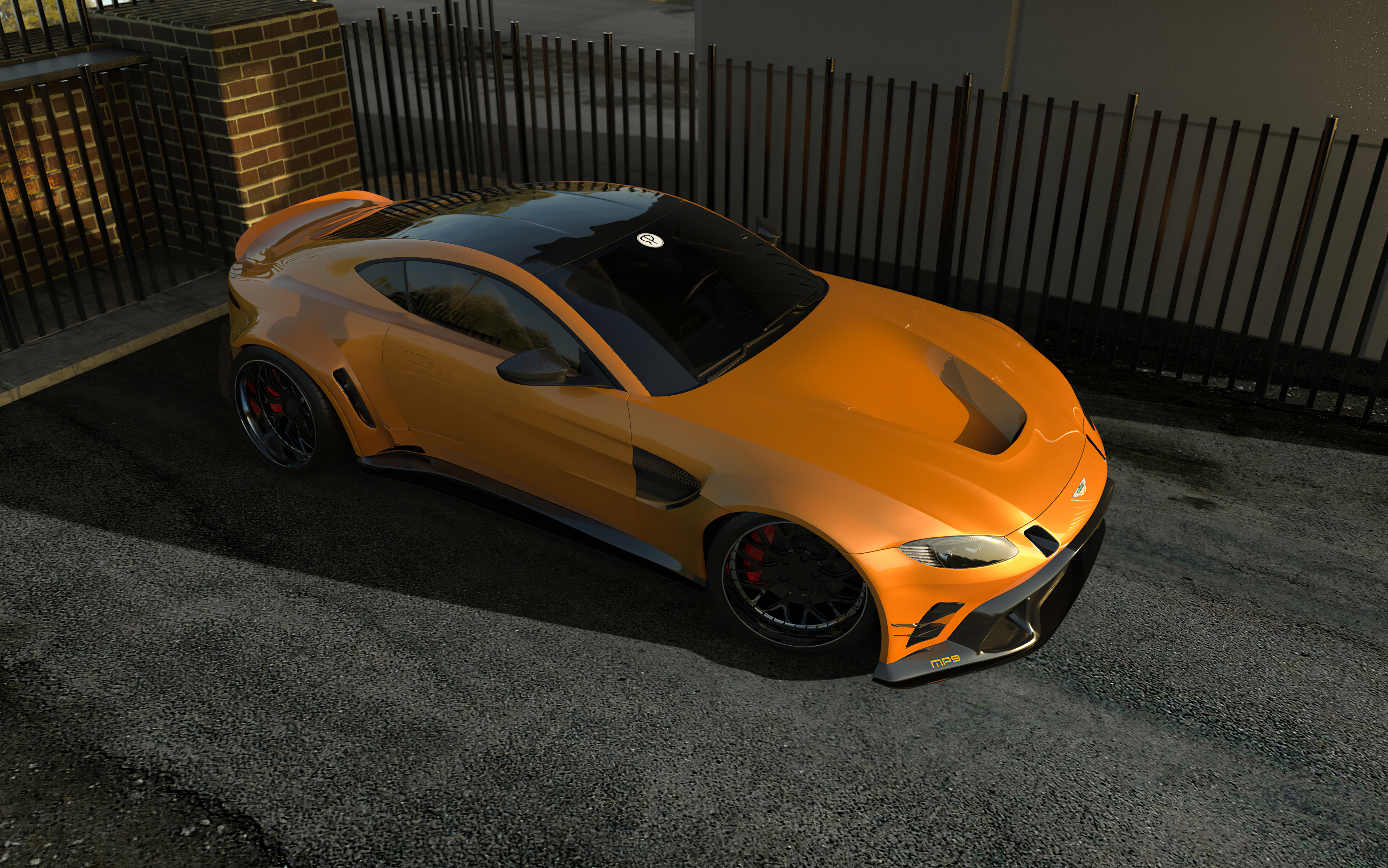 Aston Martin Vantage Mp6 Orange 4k Hd Cars 4k Wallpapers Images Backgrounds Photos And Pictures