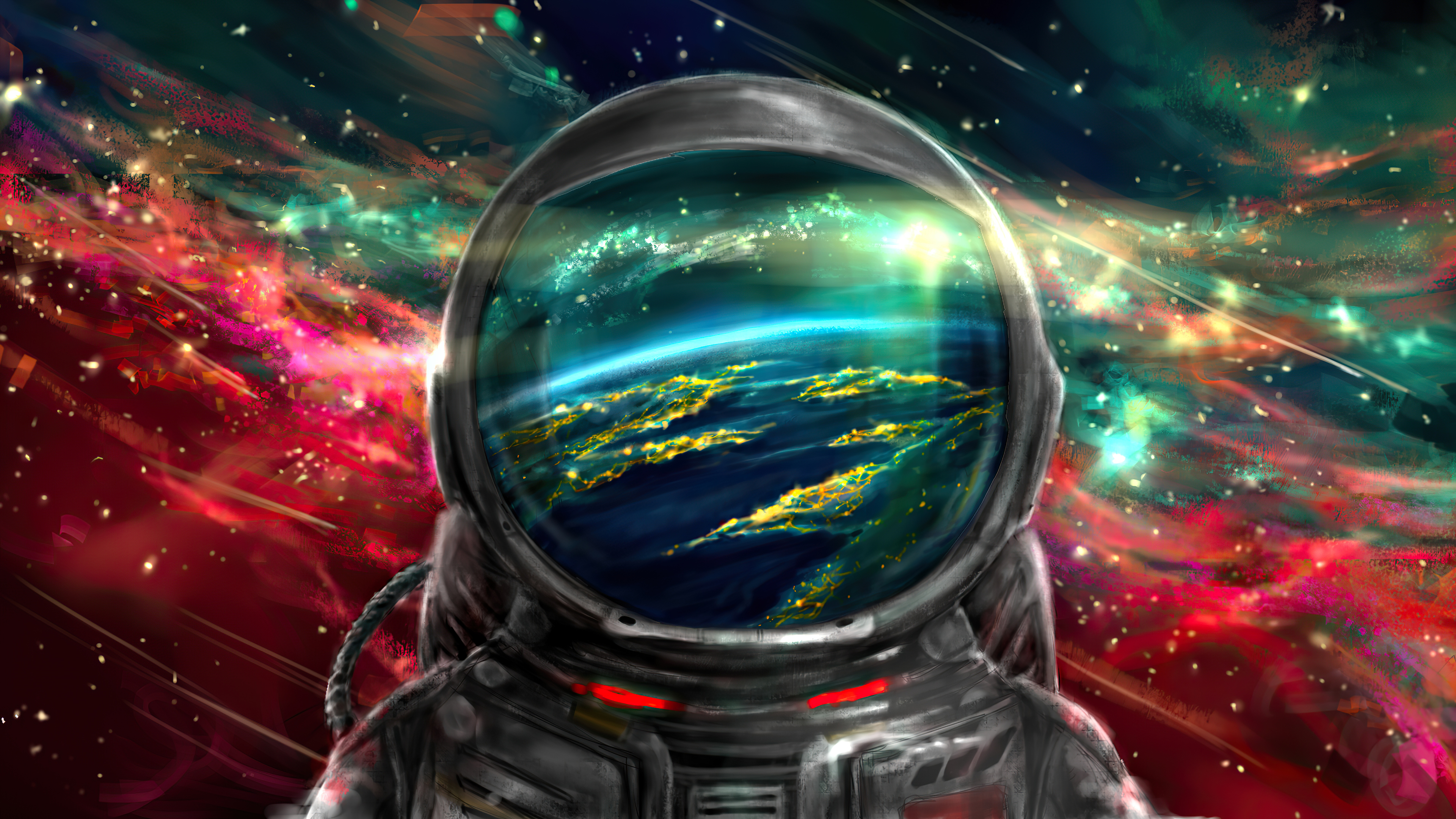 Astronaut Colorful Galaxy 4k Hd Artist 4k Wallpapers Images Backgrounds Photos And Pictures