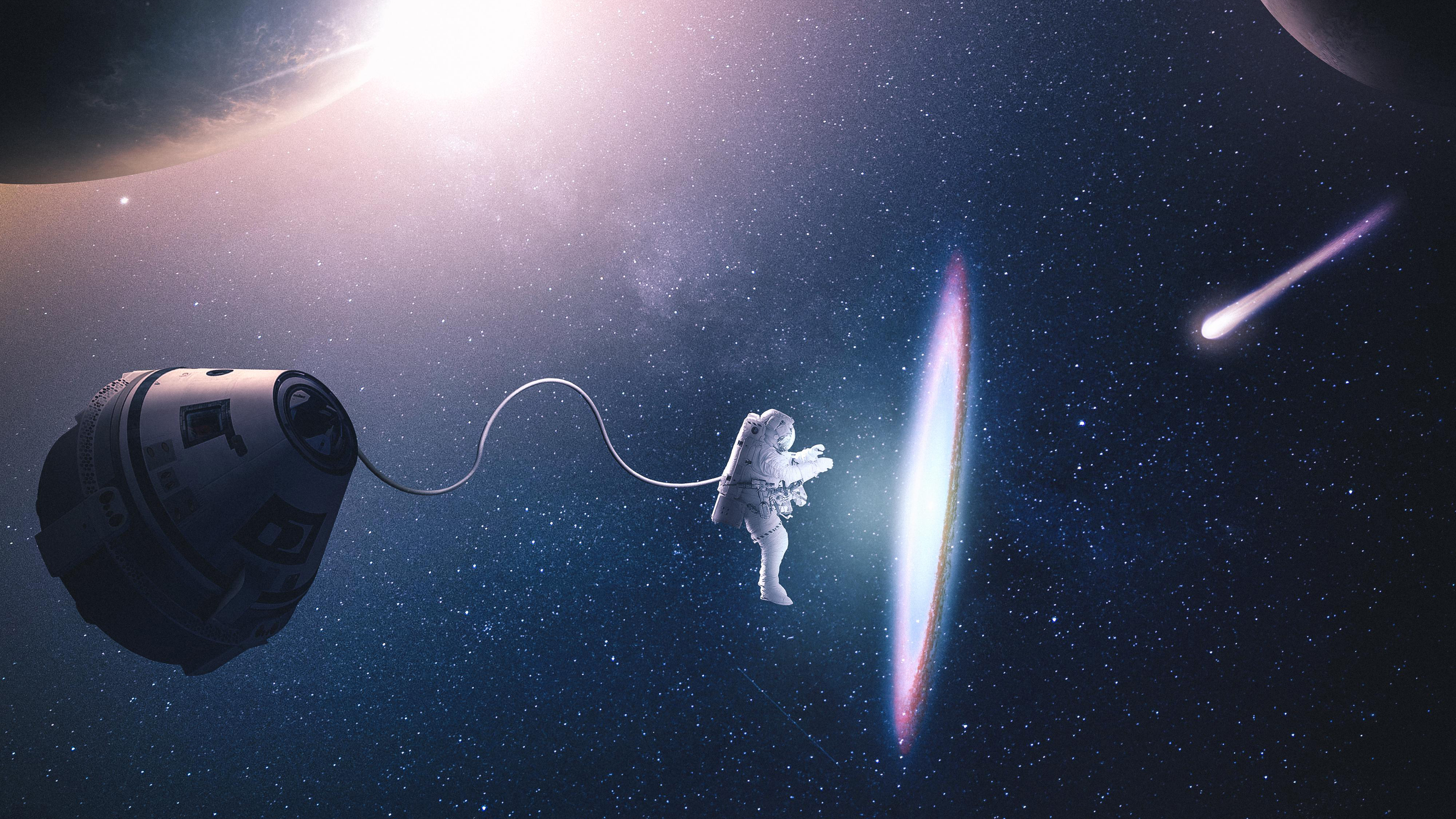 Astronaut Creating Parralel Space 4k Hd Artist 4k Wallpapers Images Backgrounds Photos And Pictures