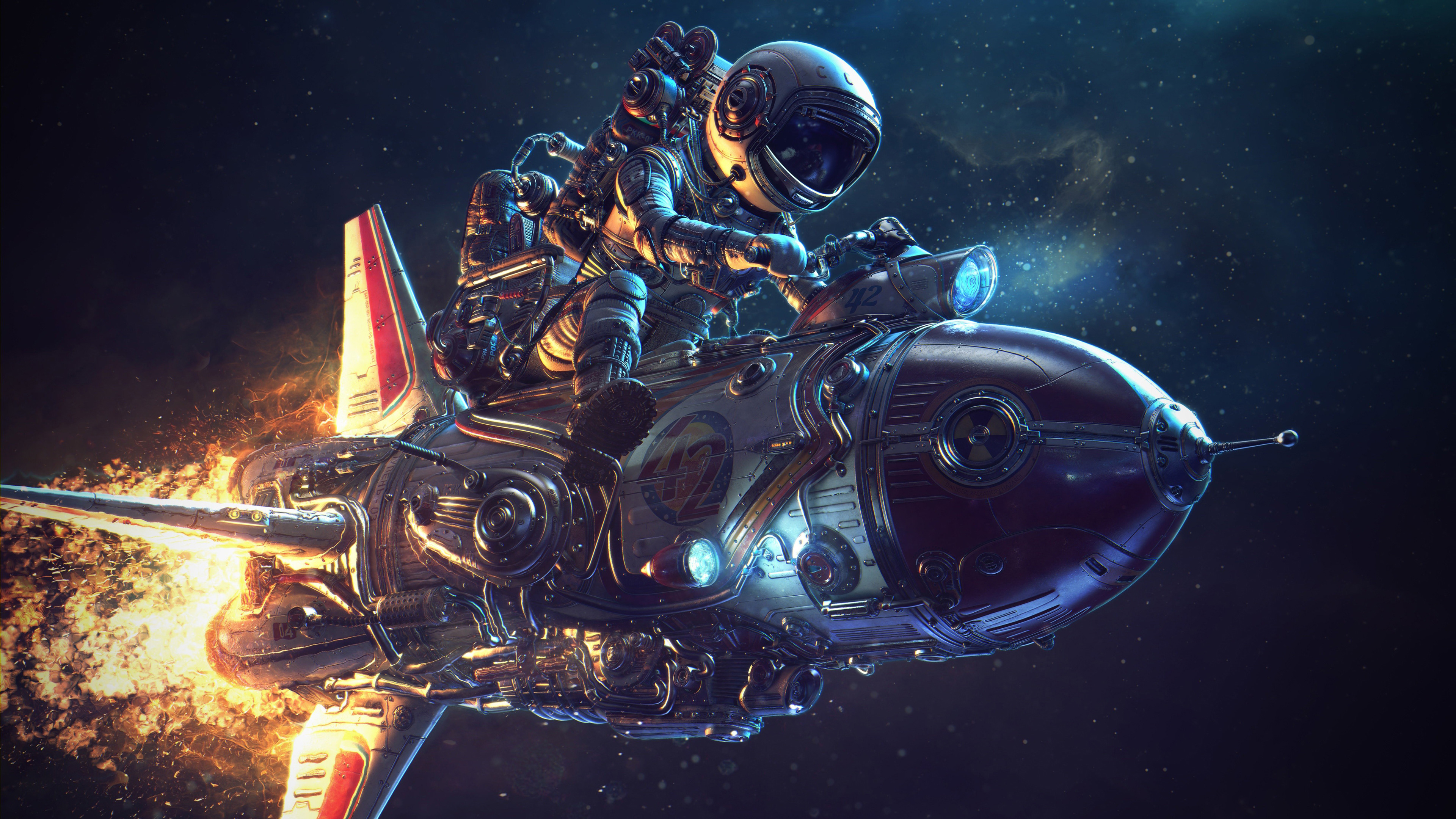 Astronaut Rocket Science Fiction 4k Hd Artist 4k Wallpapers Images Backgrounds Photos And Pictures