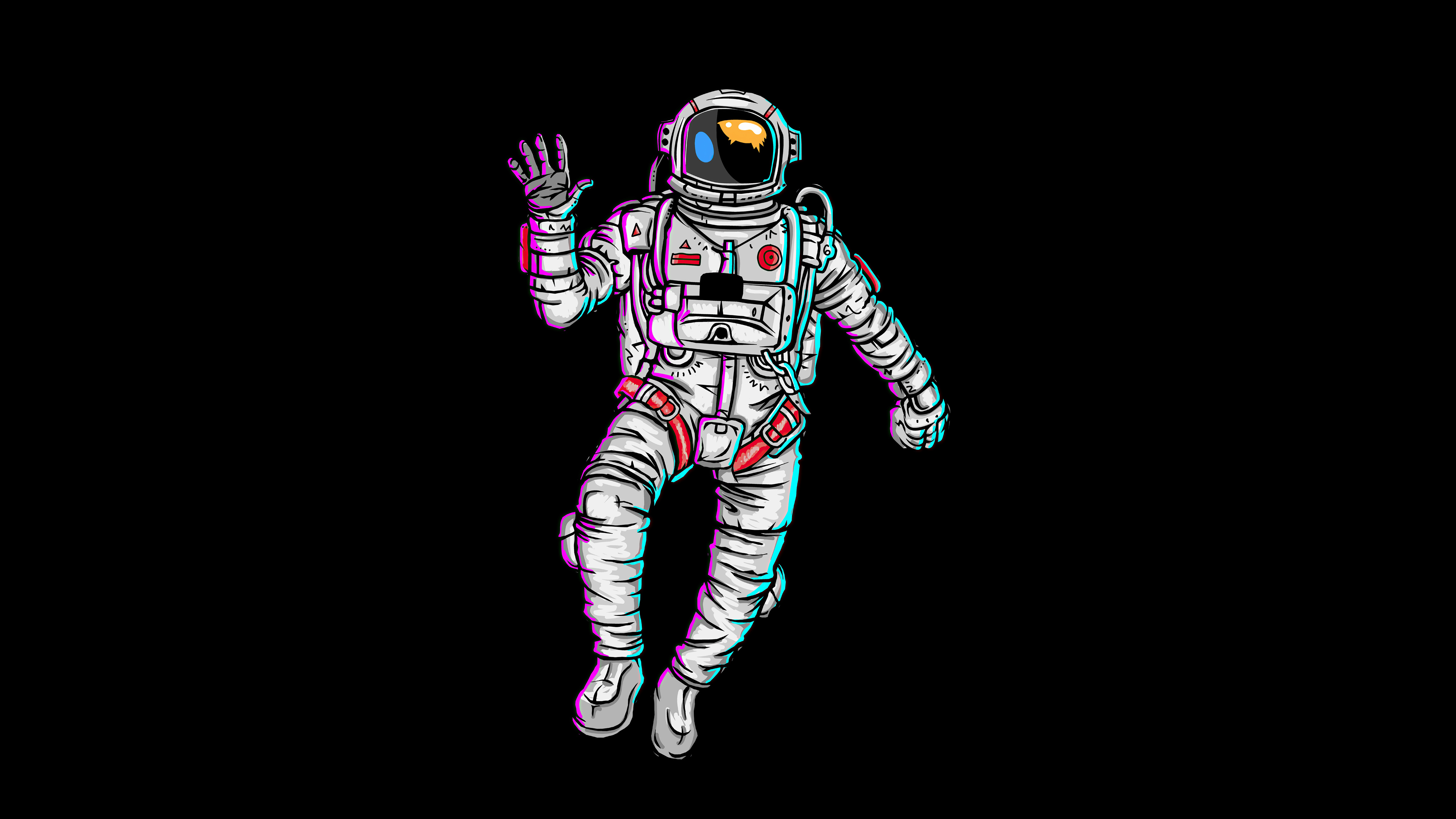 Astronaut Waving Hand Minimal 4k Hd Artist 4k Wallpapers Images Backgrounds Photos And Pictures