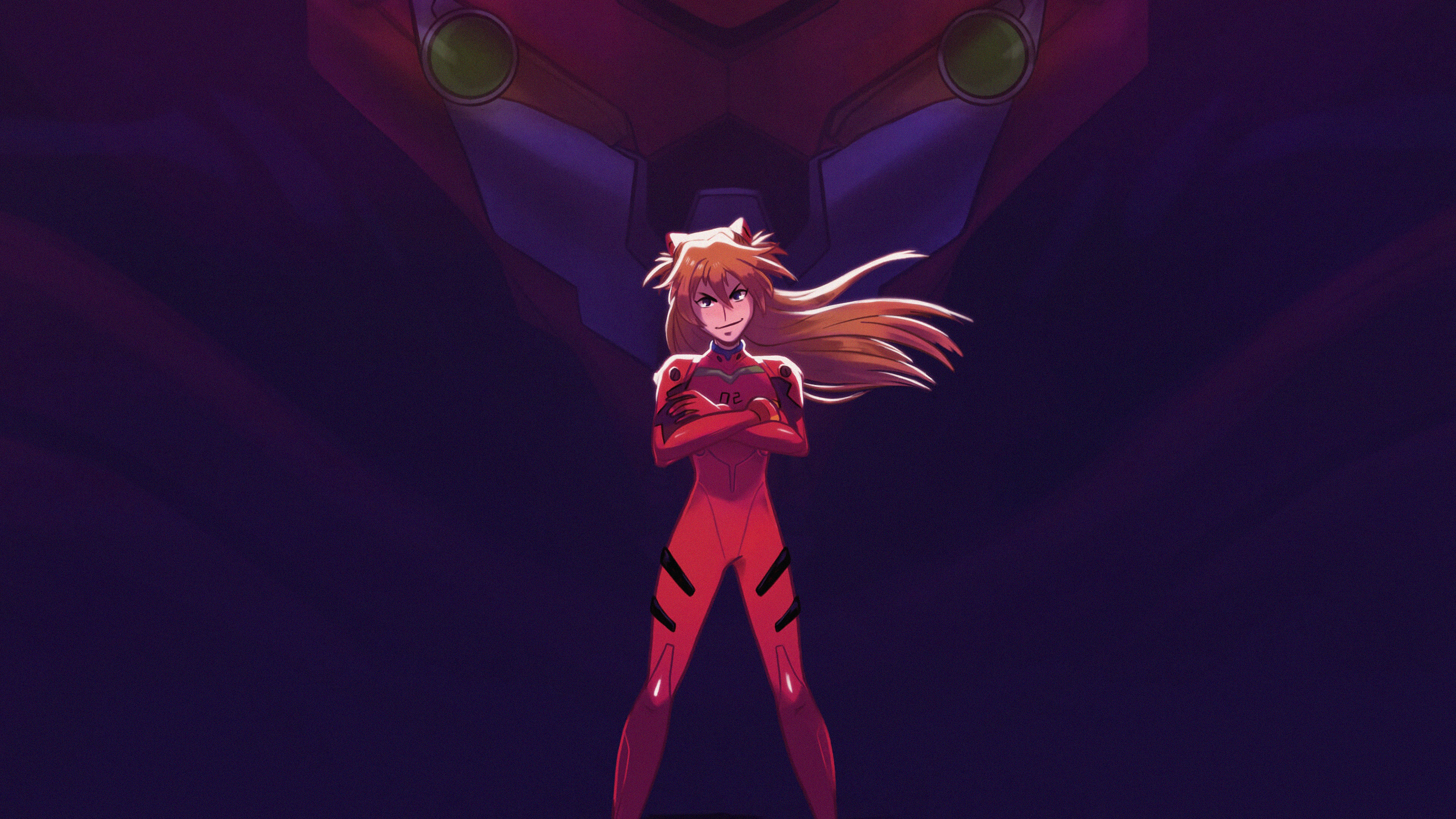 Asuka And Her Unit 02 From Evangelion Hd Anime 4k Wallpapers Images Backgrounds Photos And Pictures