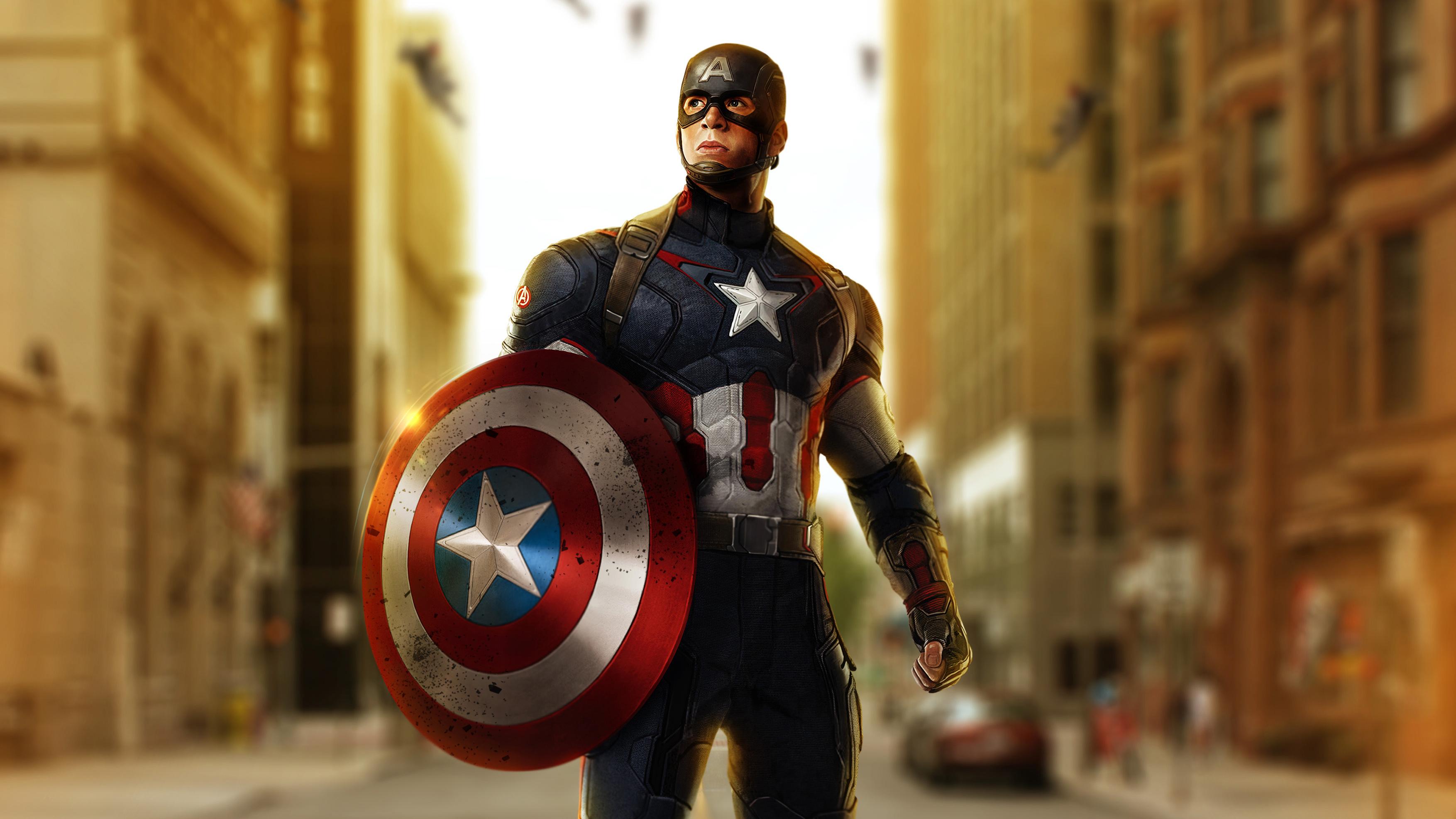 Avengers Age Of Ultron Captain America Artwork Hd