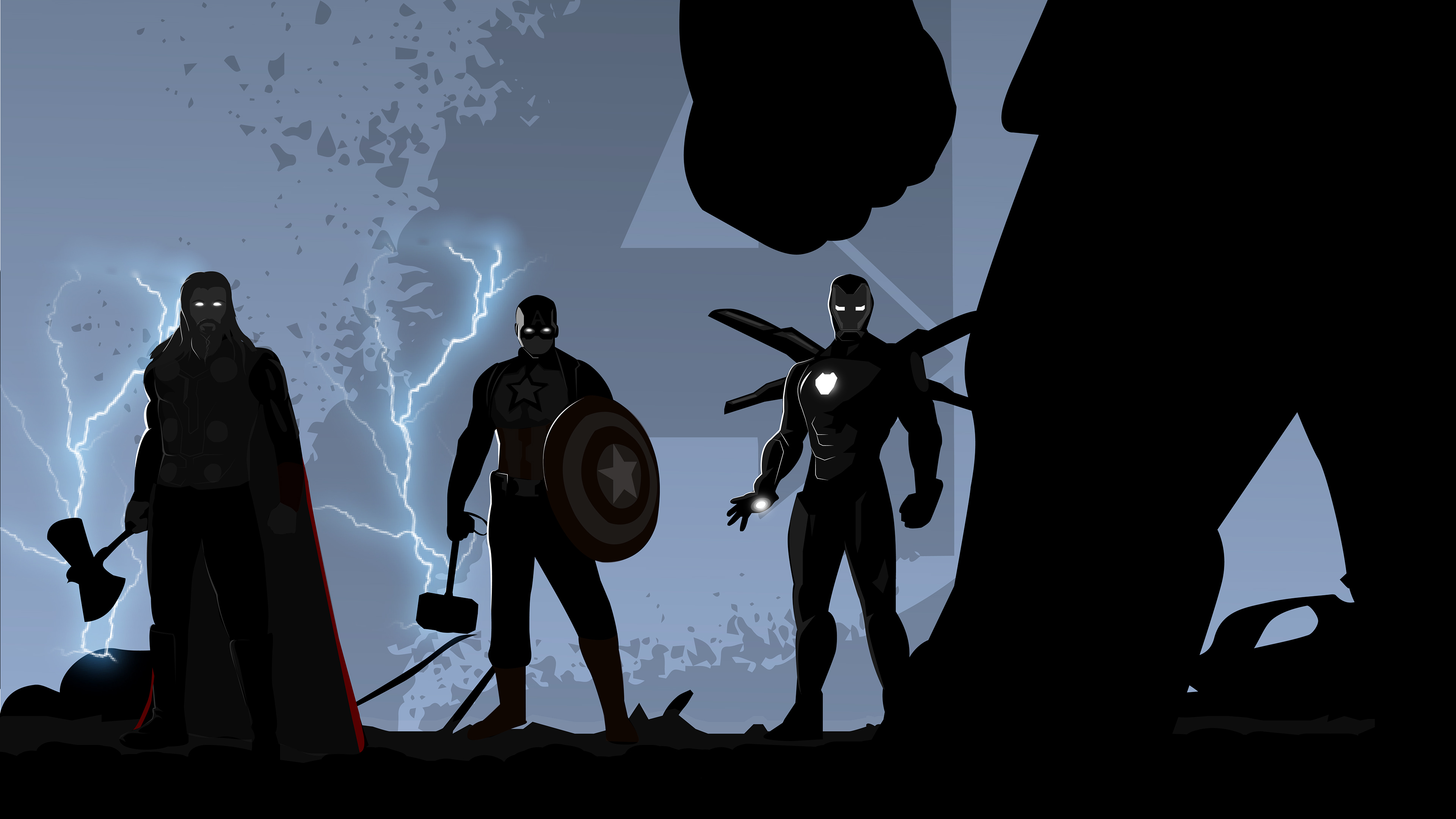 Avengers Endgame Minimal Illustration Hd Superheroes 4k