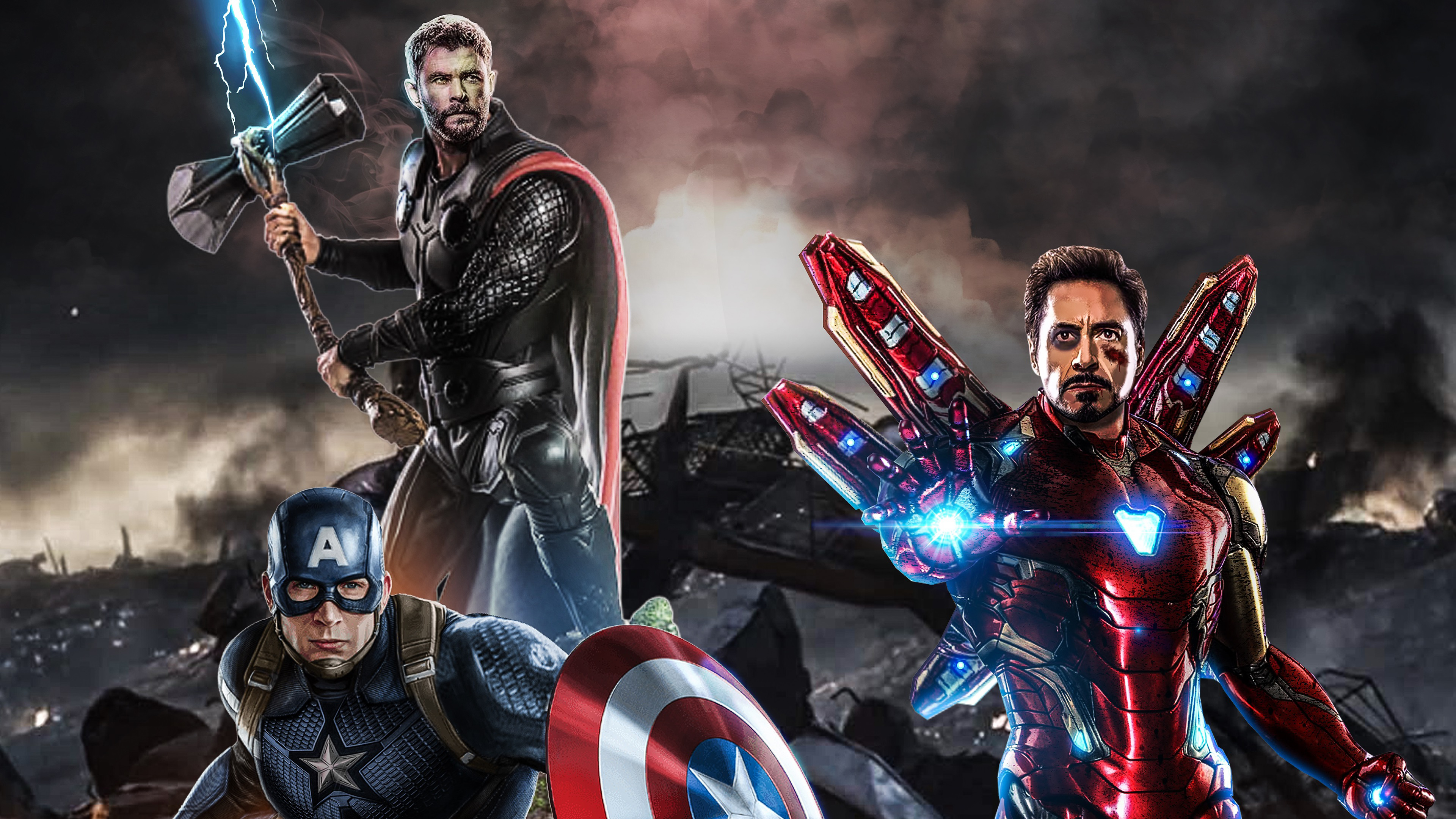Avengers Endgame The Big Three Hd Superheroes 4k Wallpapers Images Backgrounds Photos And Pictures
