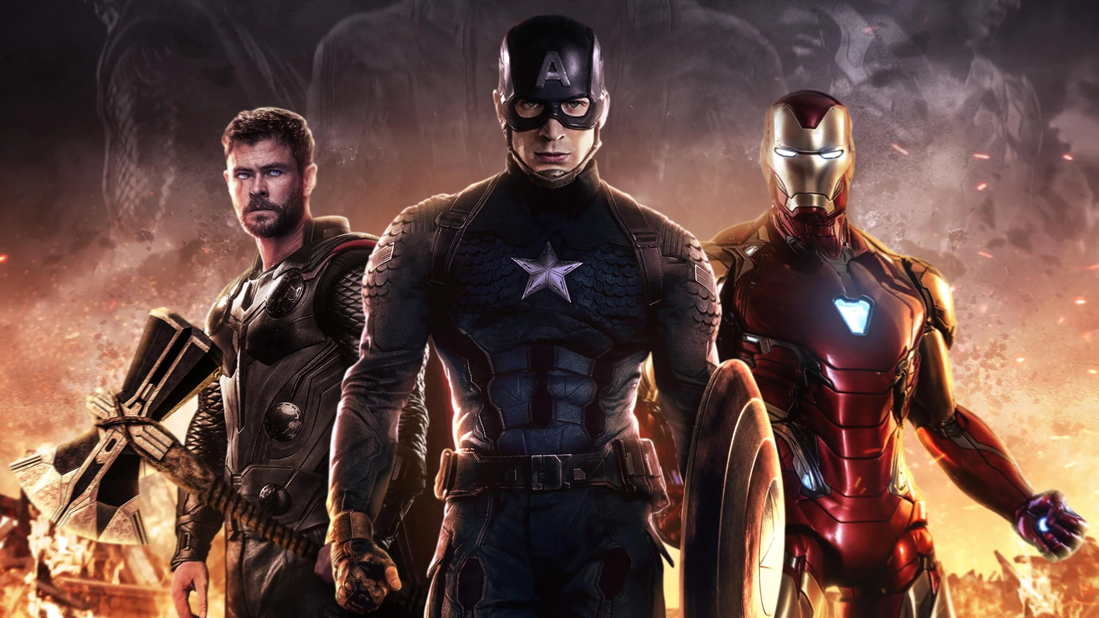 Avengers Endgame Trinity Hd Superheroes 4k Wallpapers Images