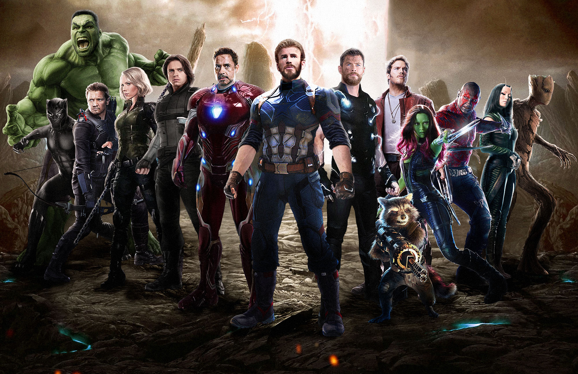 2048x1152 Avengers Infinity War 2018 Movie Fan Art 2048x1152 Resolution Hd 4k Wallpapers Images Backgrounds Photos And Pictures