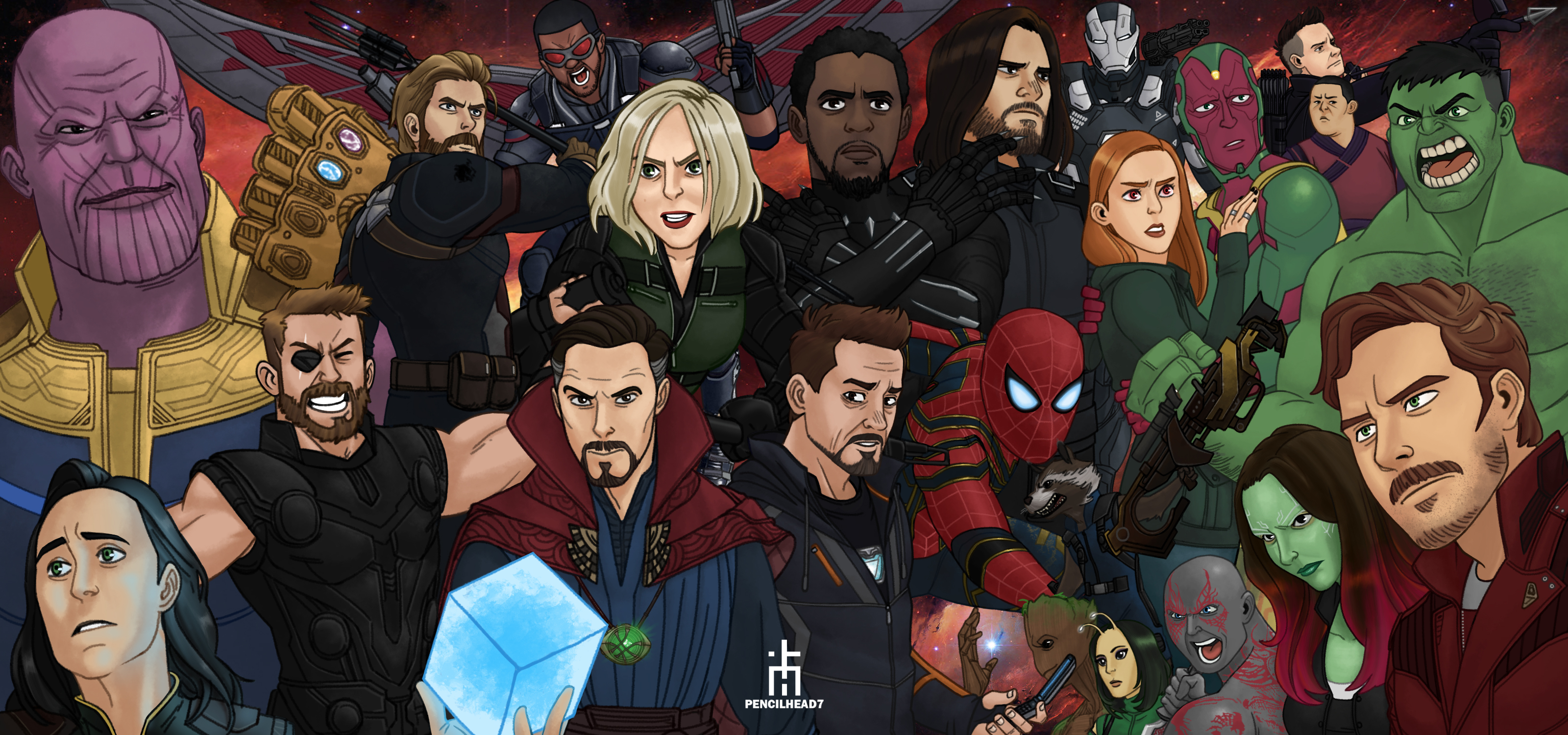 Avengers Infinity War Artwork, HD