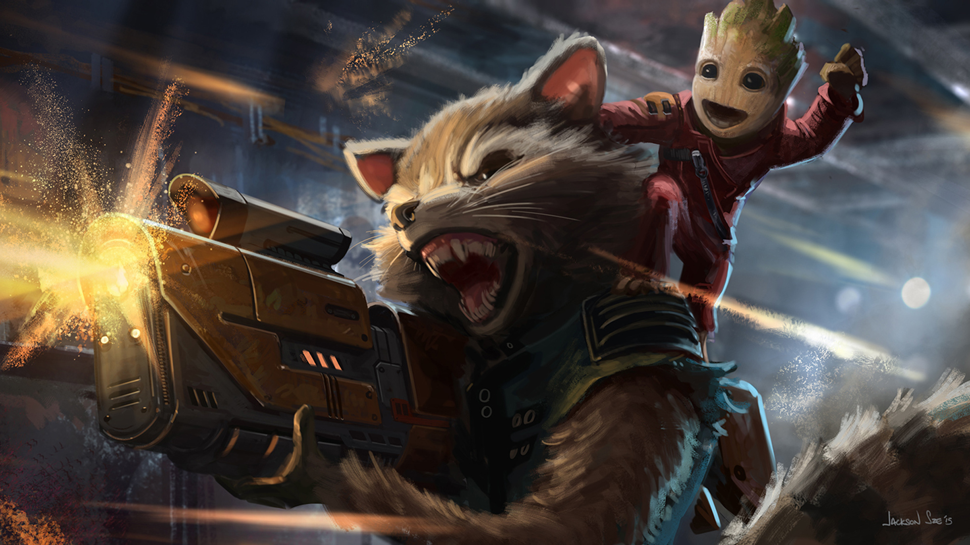 Baby Groot And Rocket Raccoon Artwork Hd Movies 4k Wallpapers Images Backgrounds Photos And Pictures