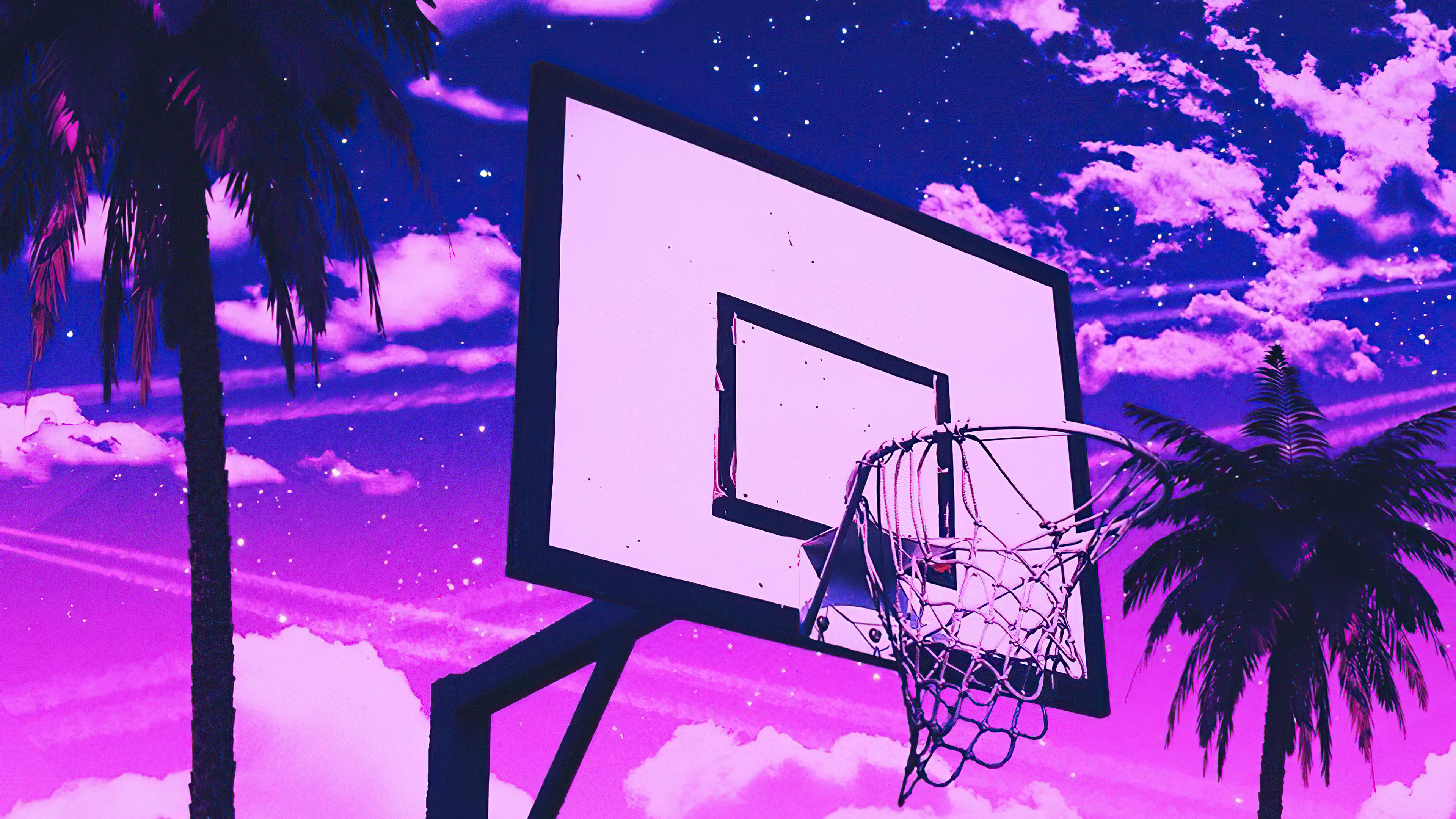 Basketball Court 4k Hd Artist 4k Wallpapers Images Backgrounds
