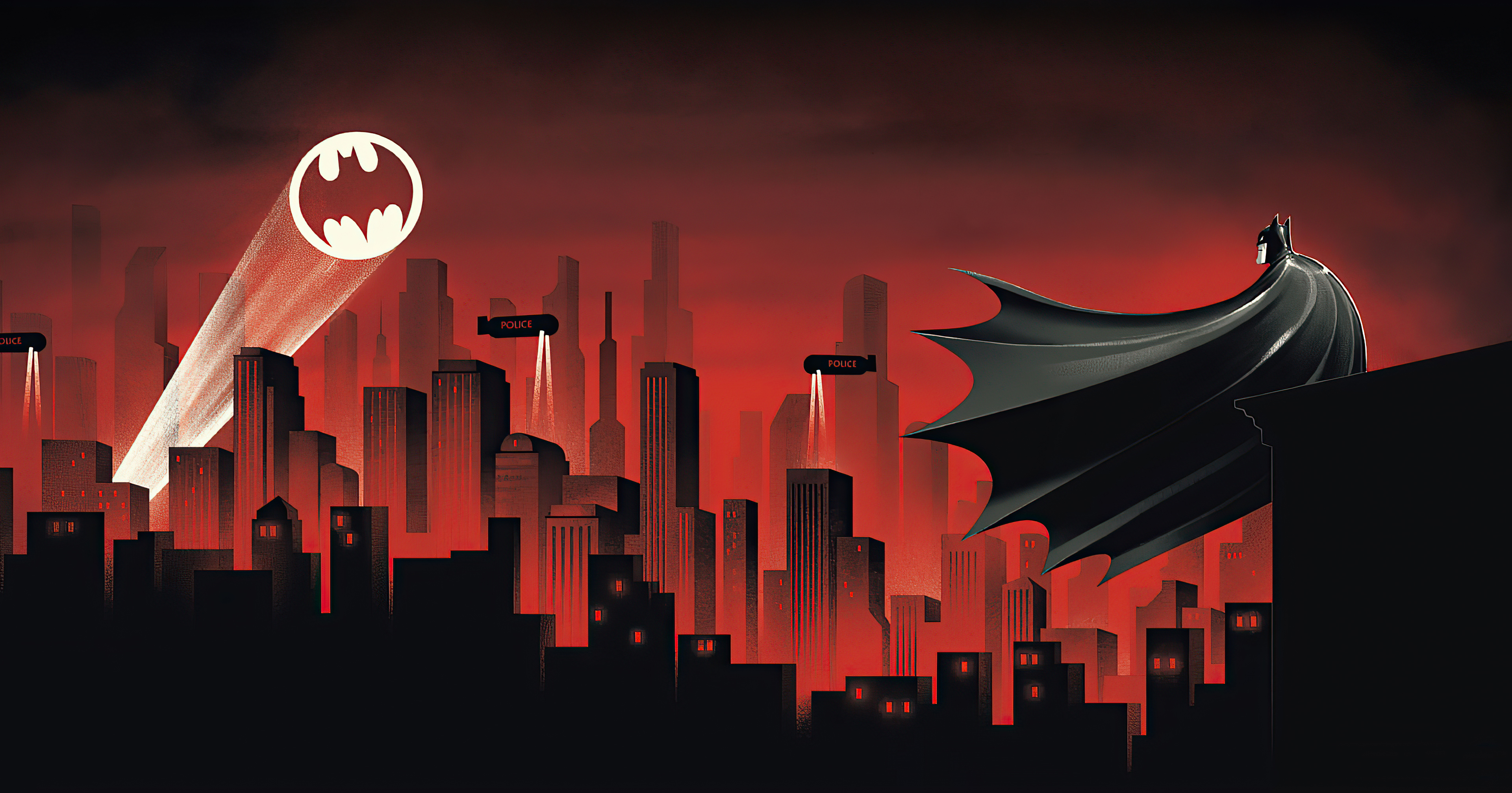 Batman The Animated Series Red World 4k Hd Superheroes 4k Wallpapers Images Backgrounds Photos And Pictures