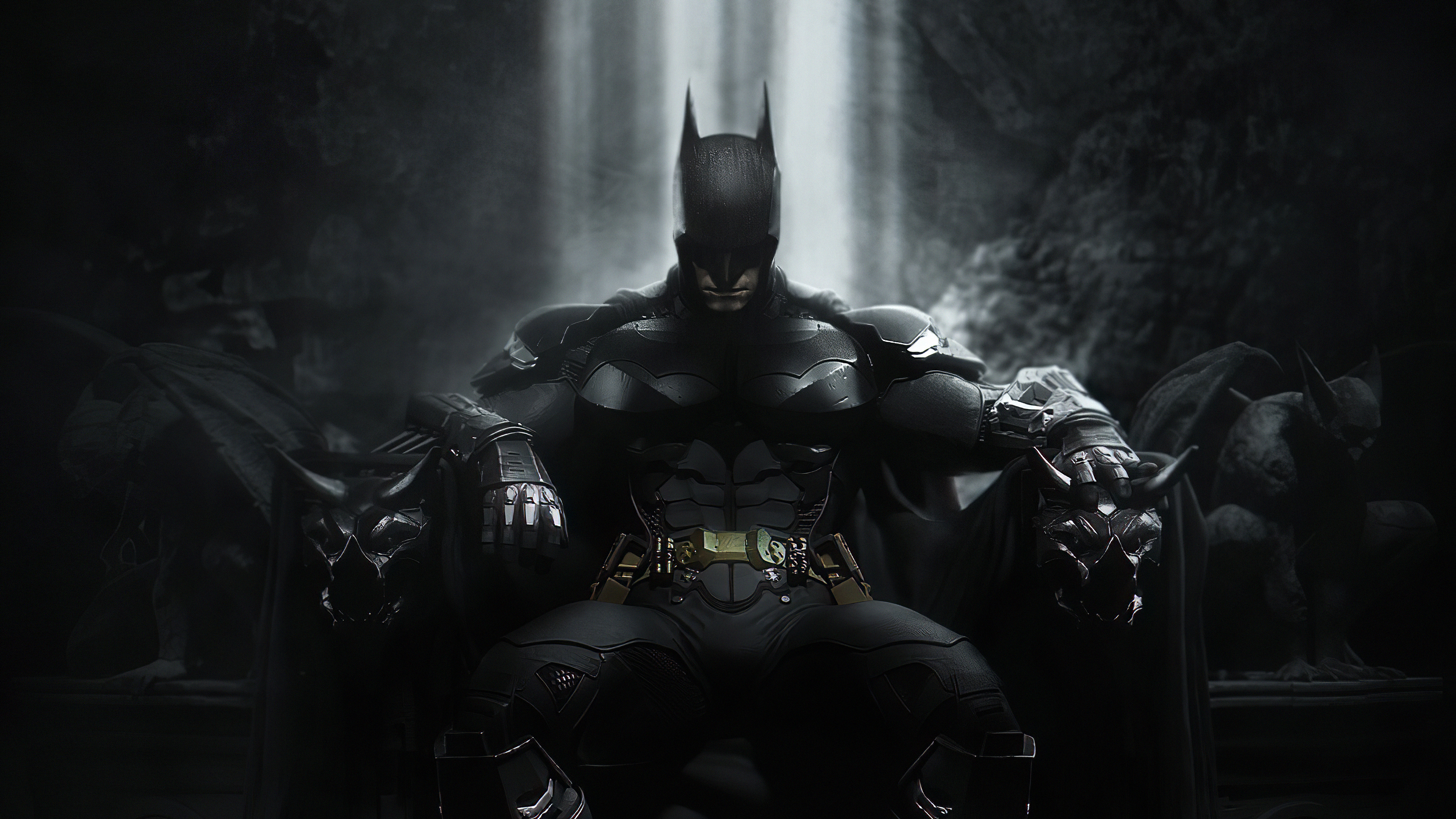 Batman Throne 4k Hd Superheroes 4k Wallpapers Images Backgrounds Photos And Pictures