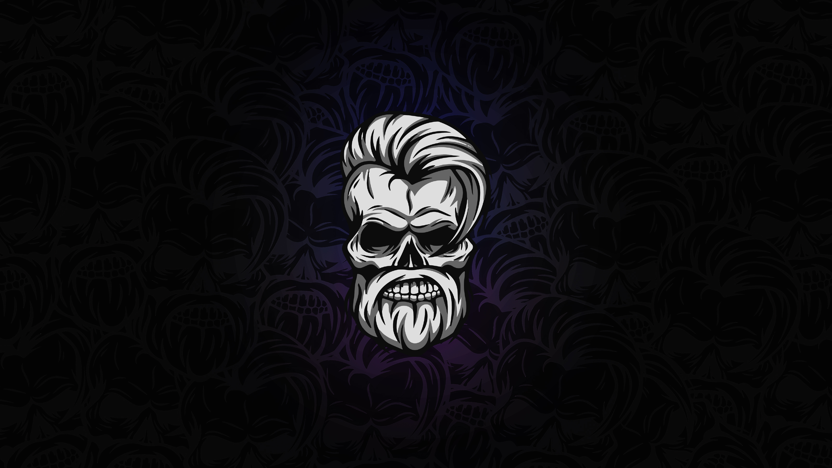 Beard Skull Dark 4k Hd Artist 4k Wallpapers Images Backgrounds
