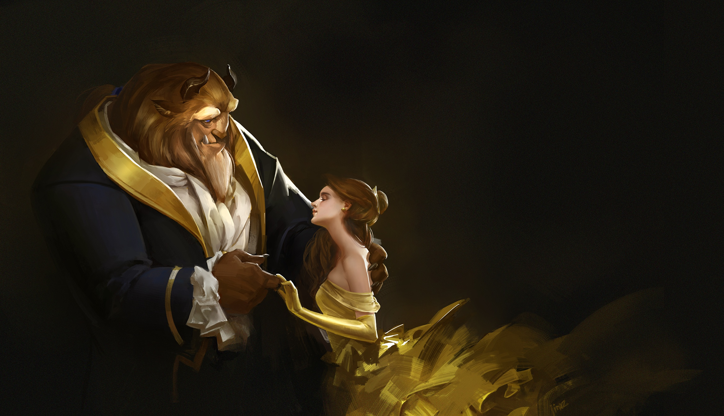 Beauty And The Beast Artwork Hd Movies 4k Wallpapers Images