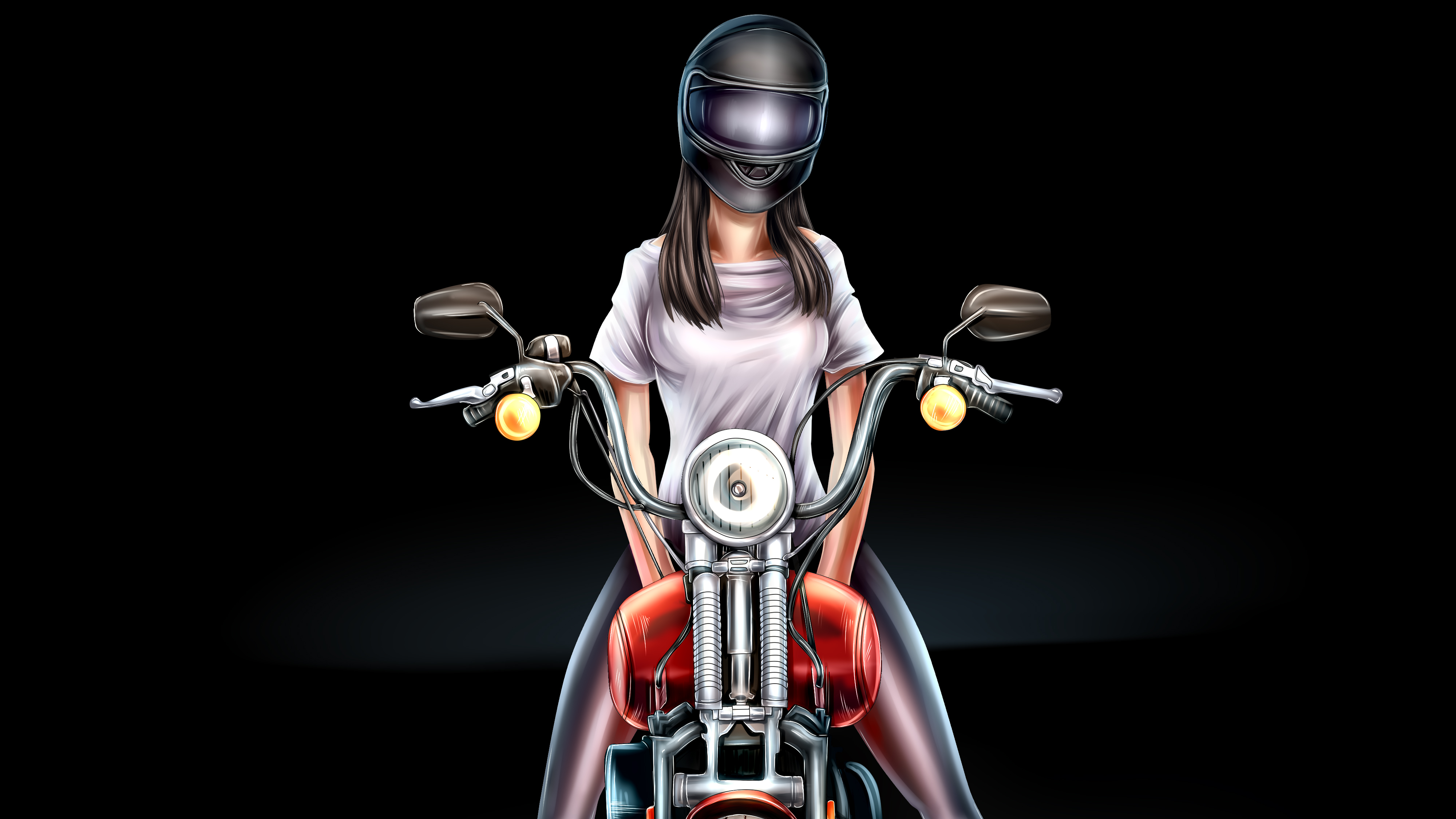 Biker Girl Digital Art 4k Hd Artist 4k Wallpapers Images Backgrounds Photos And Pictures