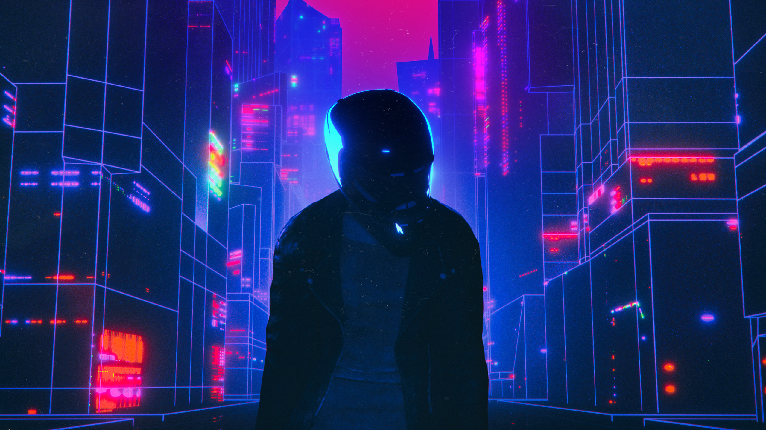 Biker Retrowave Hd Artist 4k Wallpapers Images Backgrounds Photos And Pictures