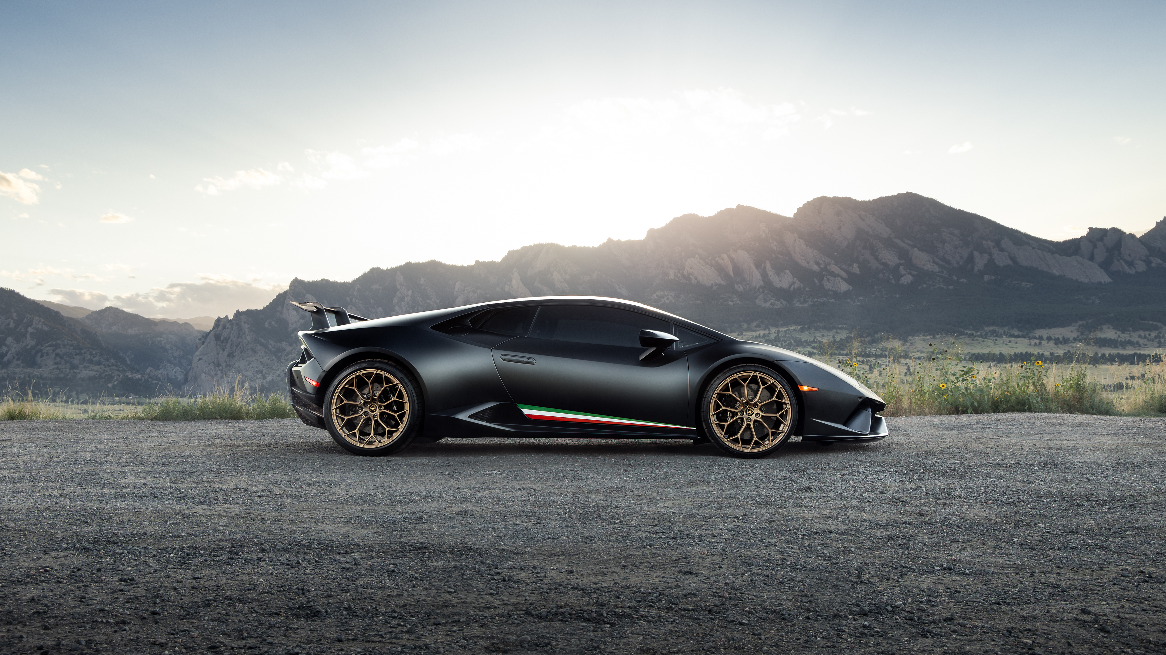 Black Lamborghini Huracan 2020 Side View Hd Cars 4k Wallpapers Images Backgrounds Photos And Pictures