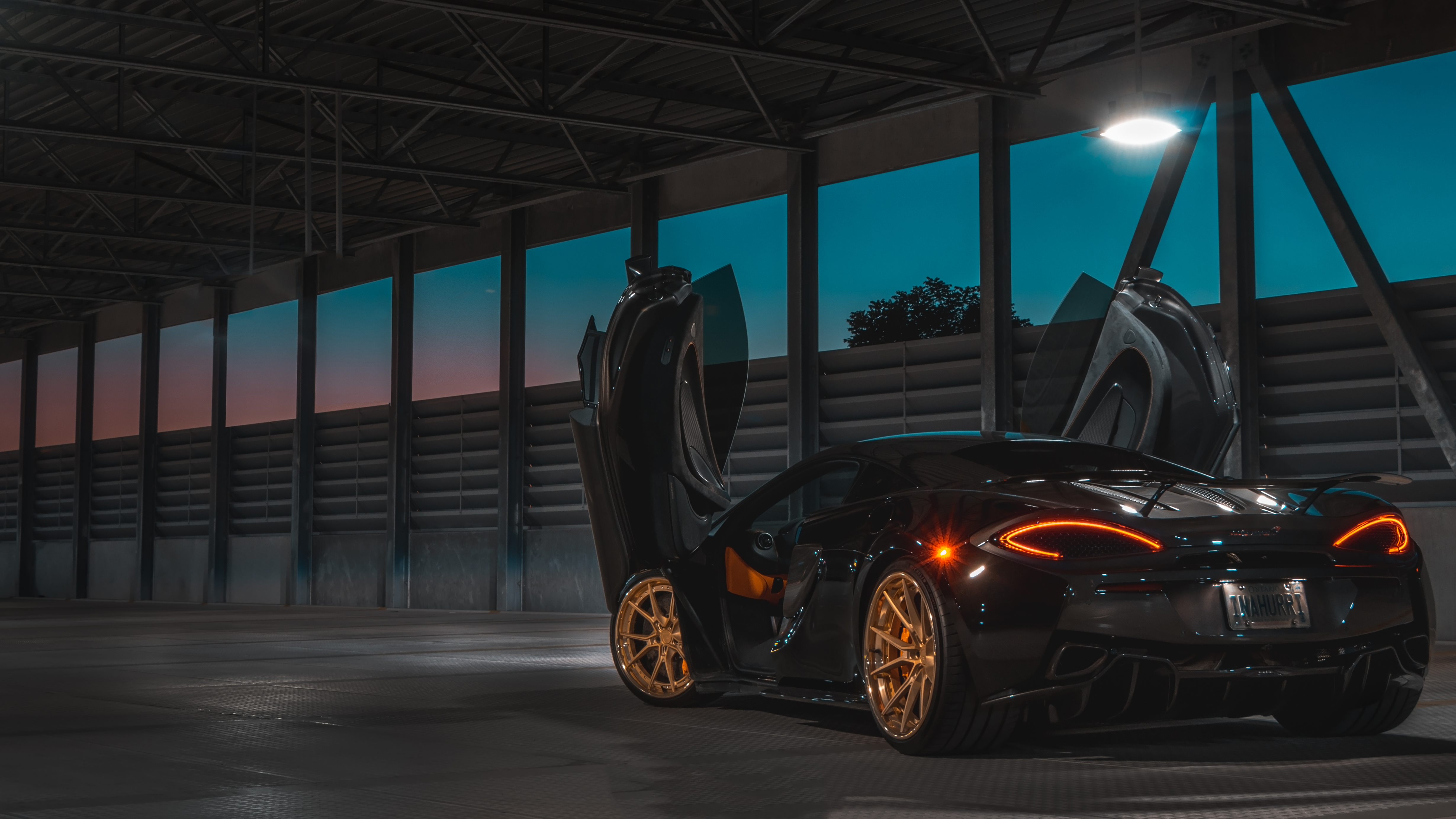 1366x768 Black Mclaren In The Night 5k 1366x768 Resolution Hd 4k Wallpapers Images Backgrounds Photos And Pictures