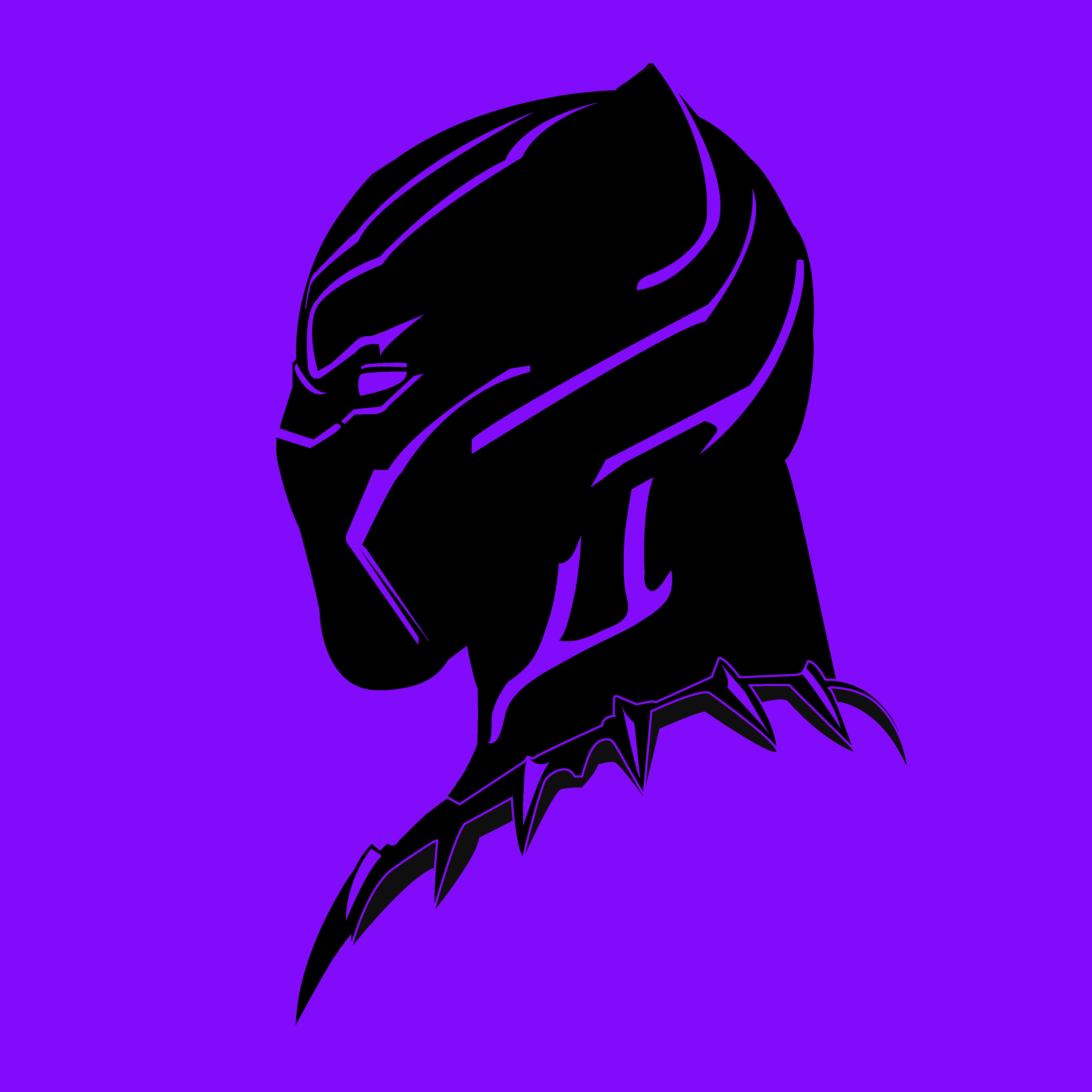 1366x768 Black Panther Illustration 1366x768 Resolution HD