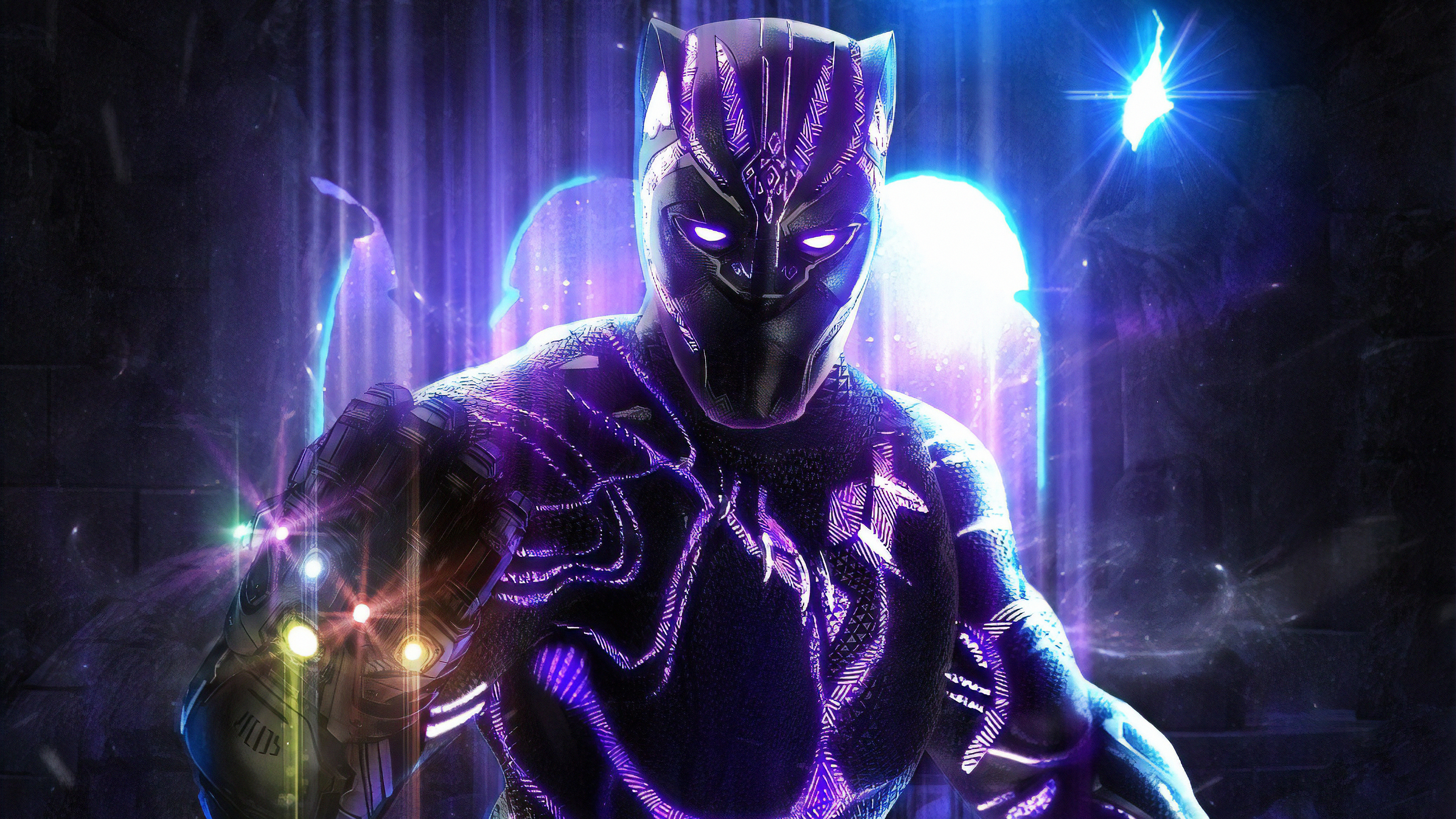 640x1136 Black Panther With Infinity Gauntlet Iphone 5 5c 5s Se Ipod Touch Hd 4k Wallpapers Images Backgrounds Photos And Pictures