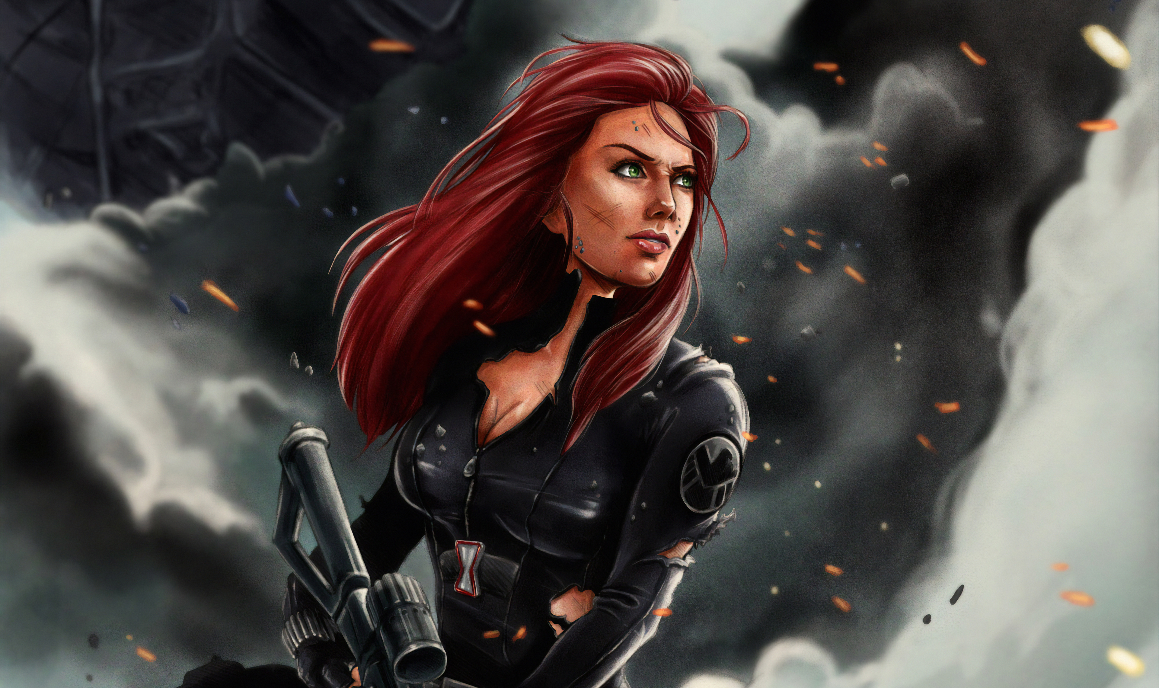 Black Widow 4k Art, HD Superheroes, 4k Wallpapers, Images ...