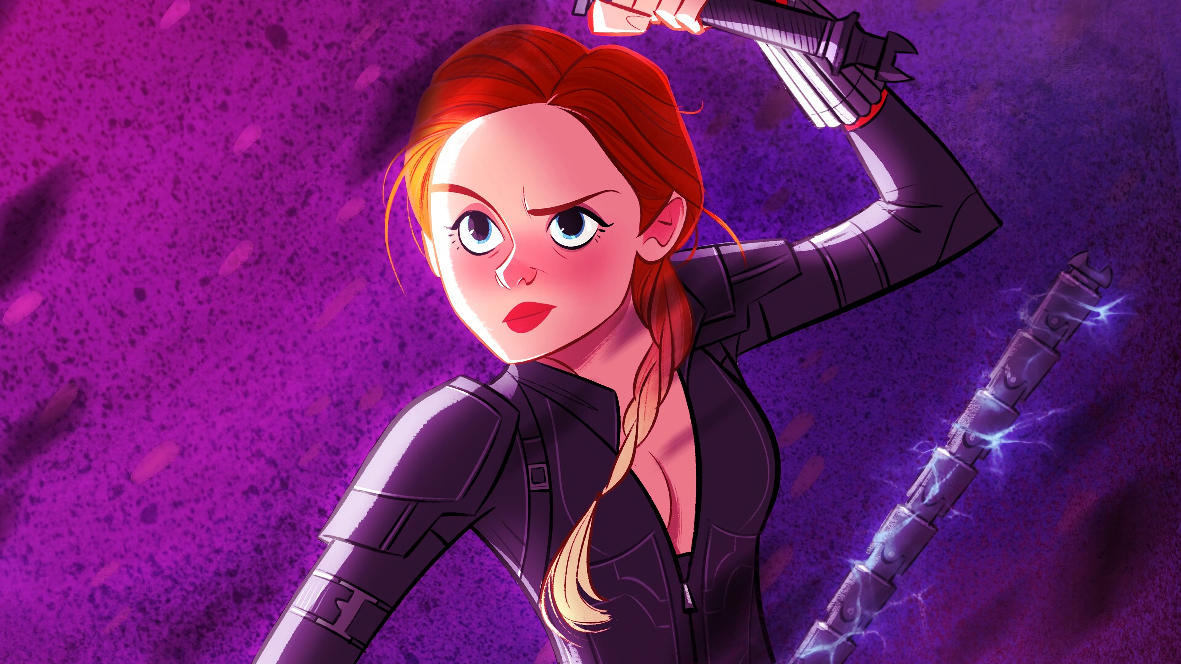 Black Widow Avengers Endgame Cartoon Art 4k Hd Superheroes 4k Wallpapers Images Backgrounds Photos And Pictures