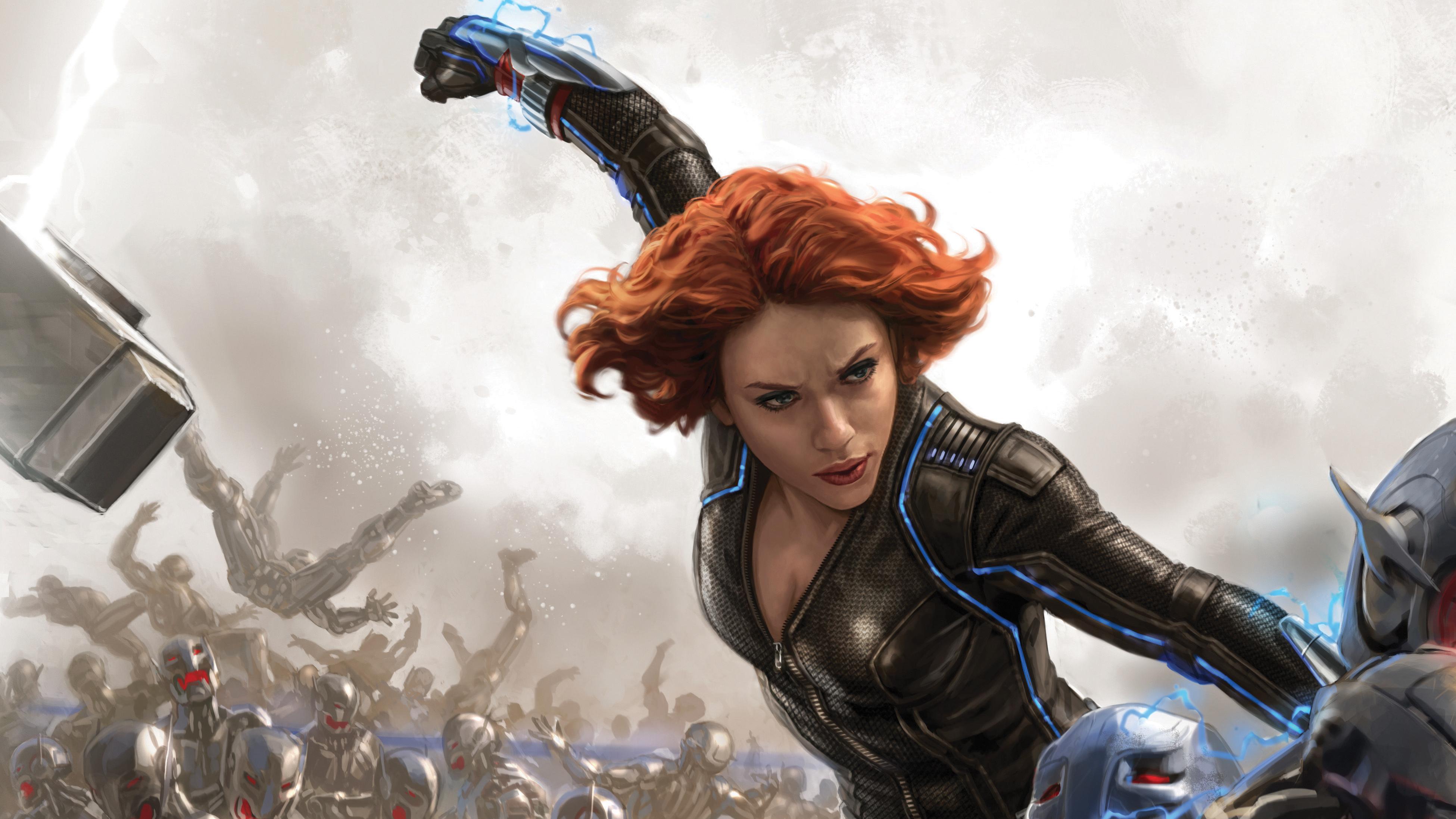 Black Widow Fan Art 4k Hd Superheroes 4k Wallpapers